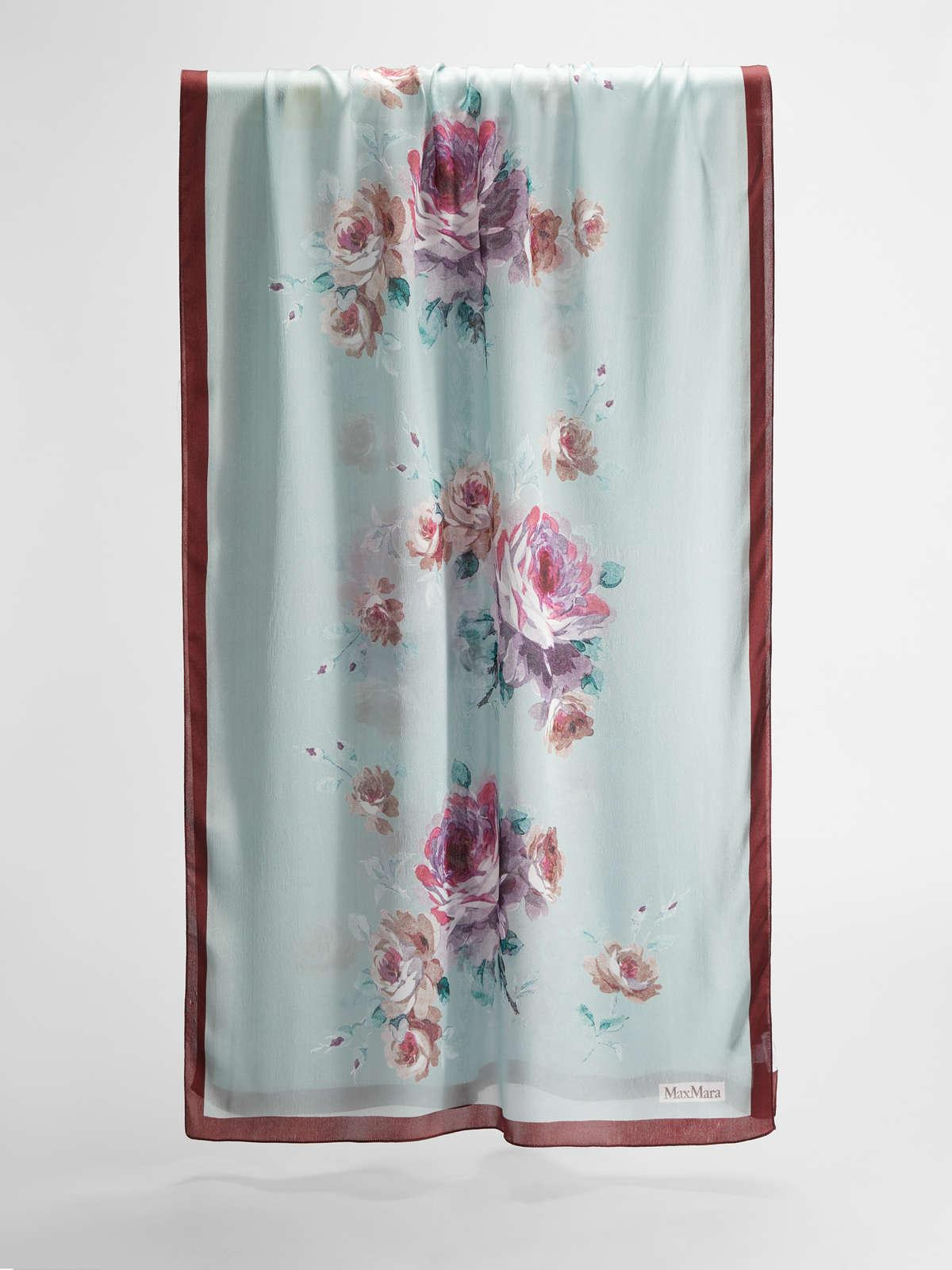 Womens Max Mara Scarves And Foulards | Silk Stole Water