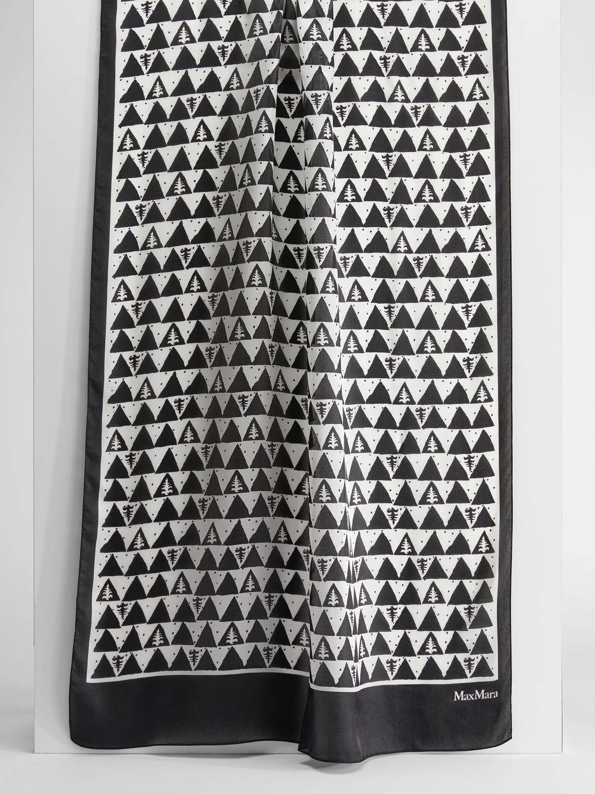 Womens Max Mara Scarves And Foulards | Silk Stole White Black