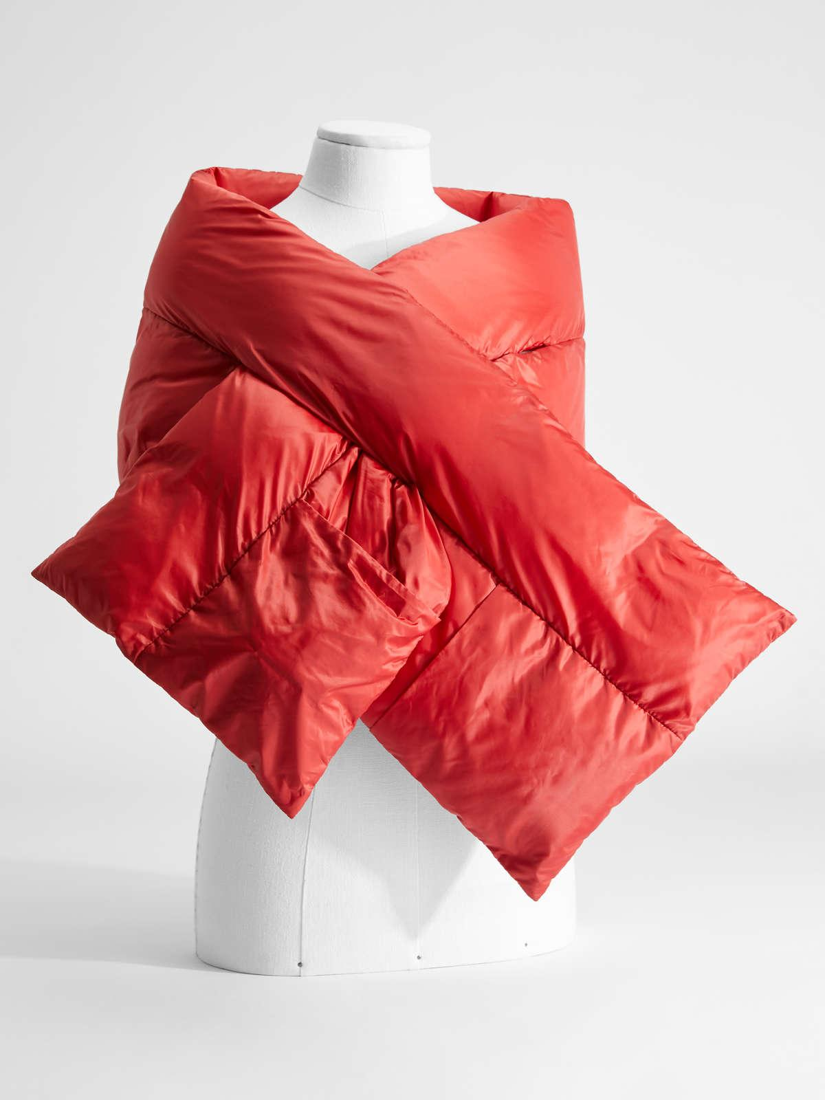 Womens Max Mara Scarves And Foulards | Water-Repellent Technical Canvas Scarf Red