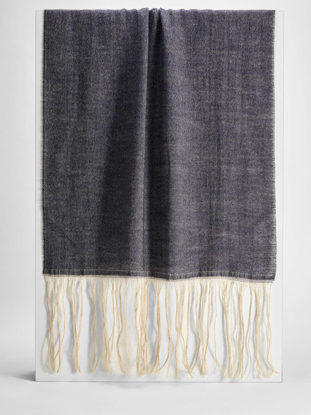 Womens Max Mara Scarves And Foulards   Wool And Cotton Scarf Ultramarine
