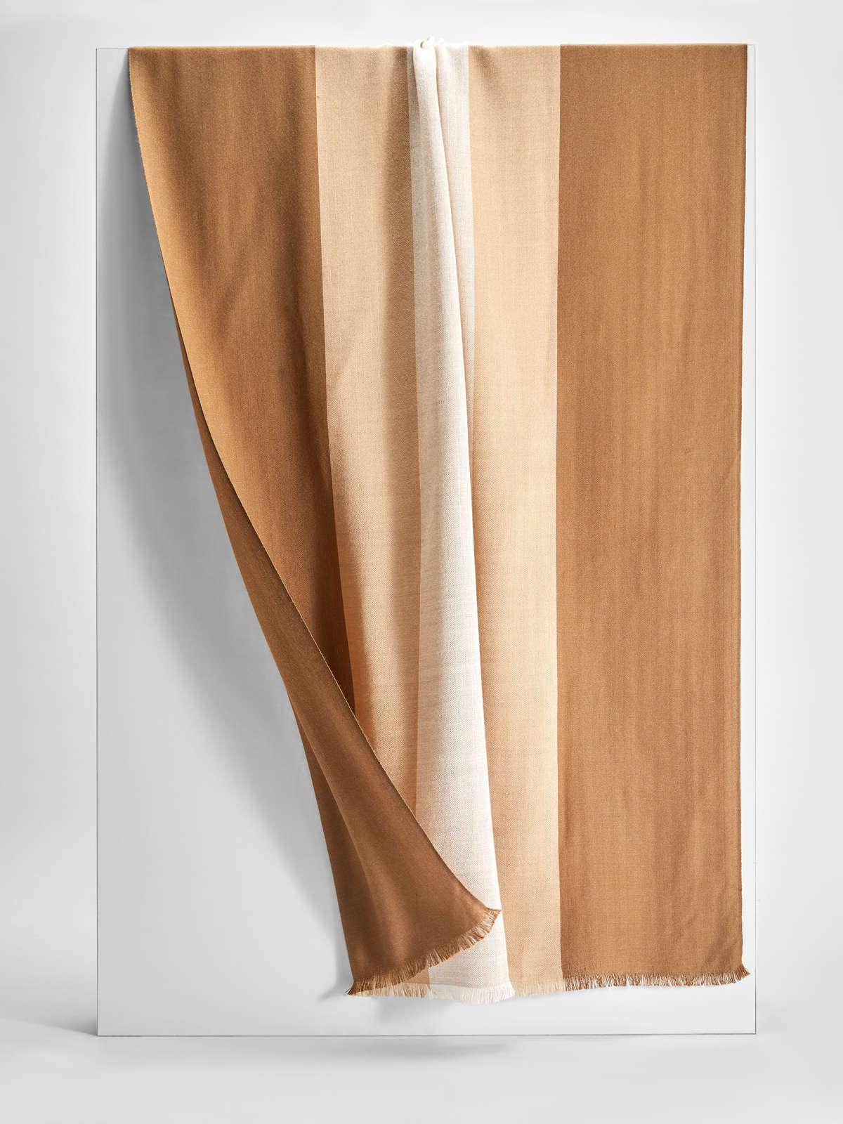 Womens Max Mara Scarves And Foulards | Wool And Silk Stole Camel