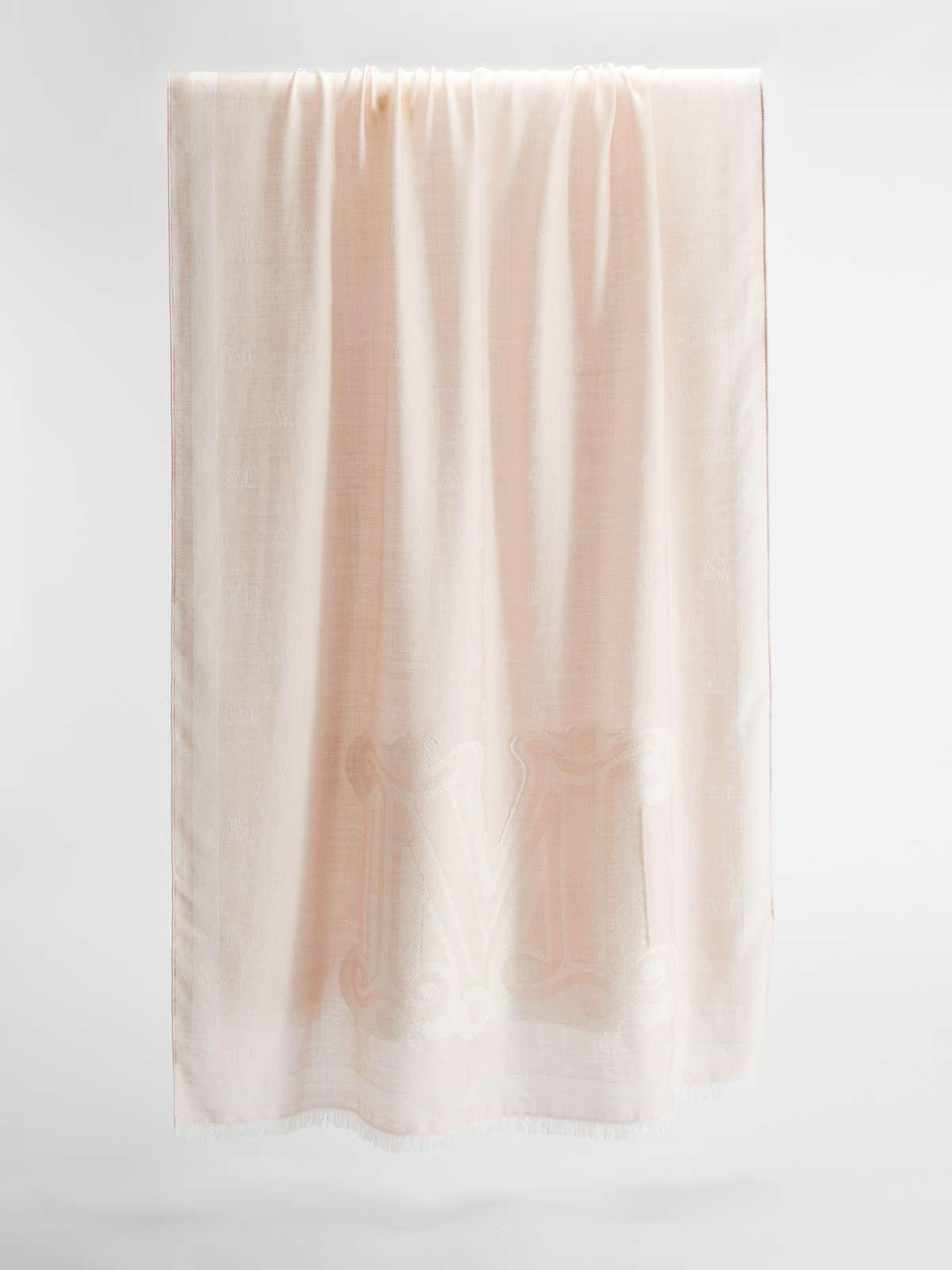 Womens Max Mara Scarves And Foulards | Wool And Silk Stole Pink