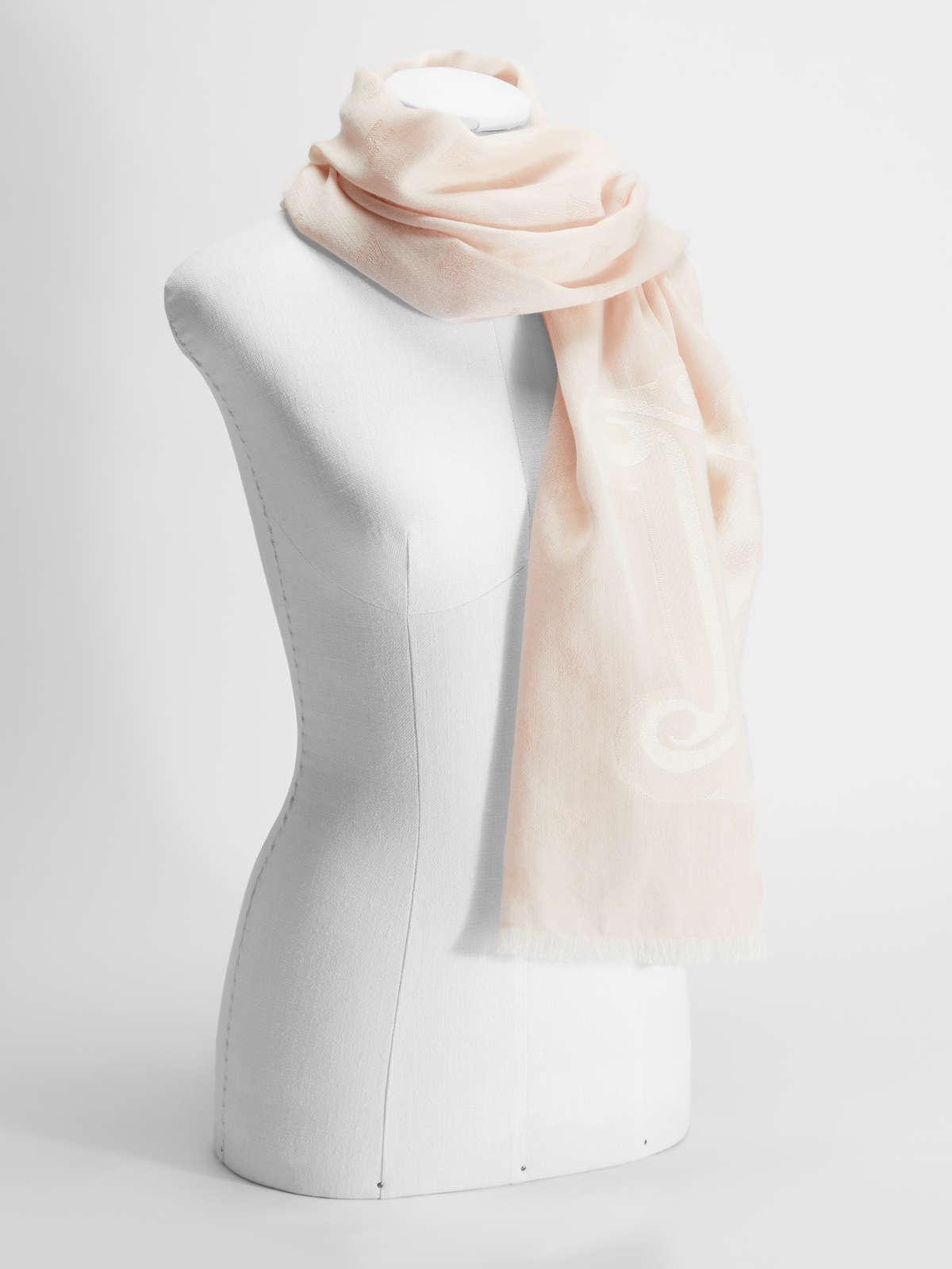 Womens Max Mara Scarves And Foulards   Wool And Silk Stole Pink