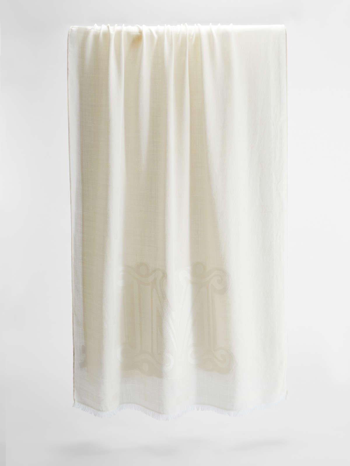 Womens Max Mara Scarves And Foulards   Wool And Silk Stole Sand