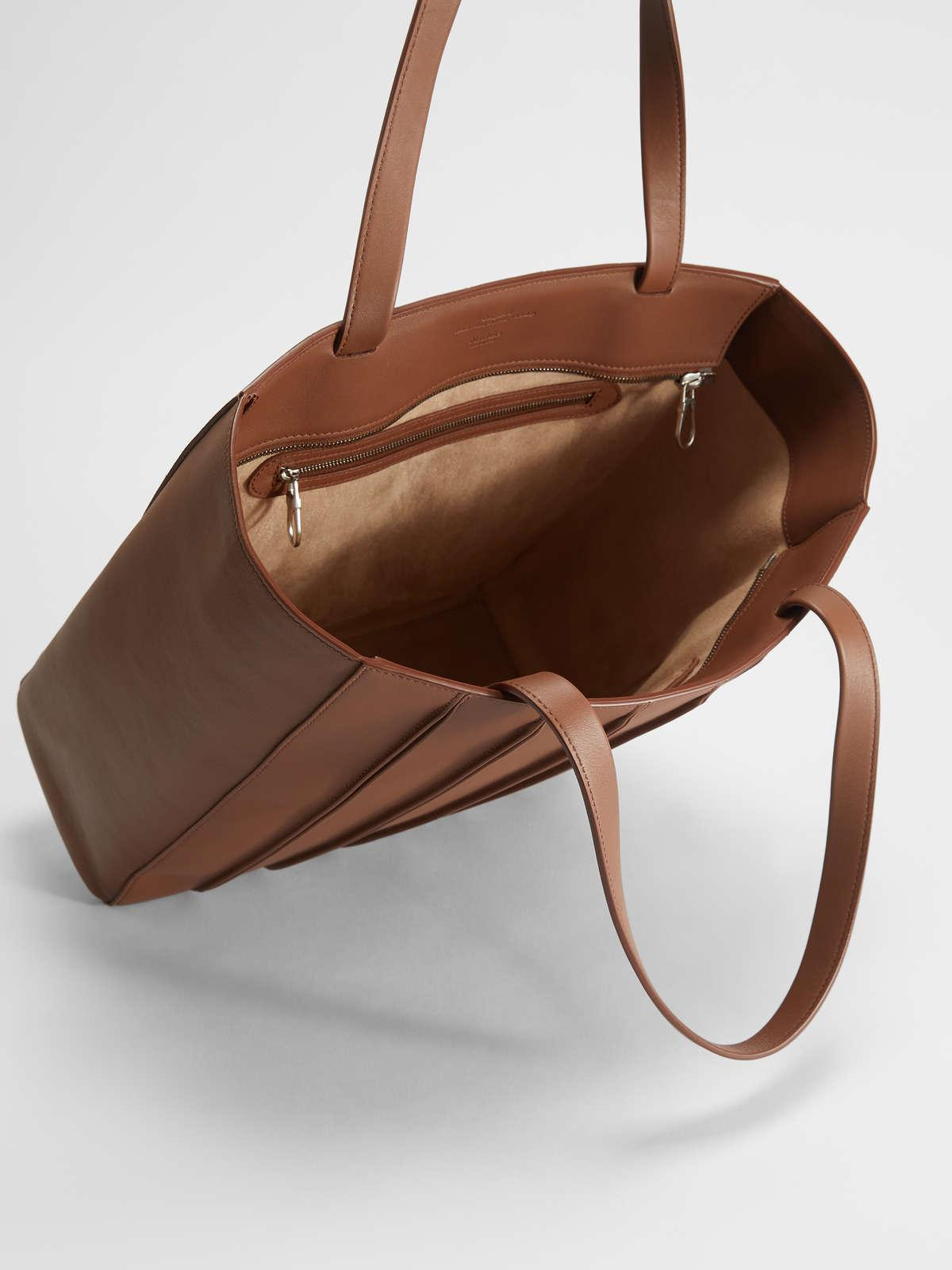 Womens Max Mara Shoppers | Whitney Bag In Leather Tobacco