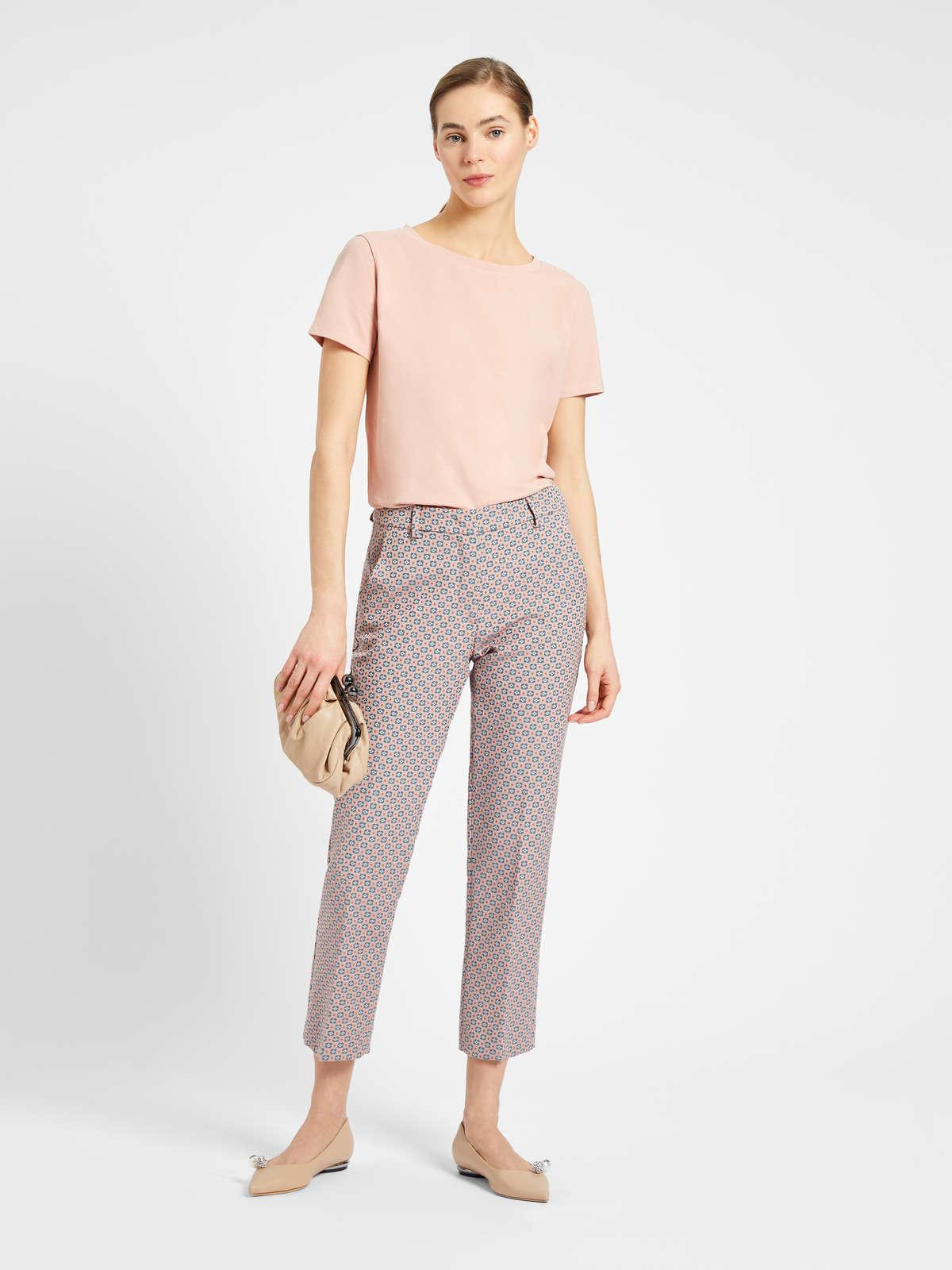Womens Max Mara Tops And T-Shirts   Cotton Jersey T-Shirt Antique Rose
