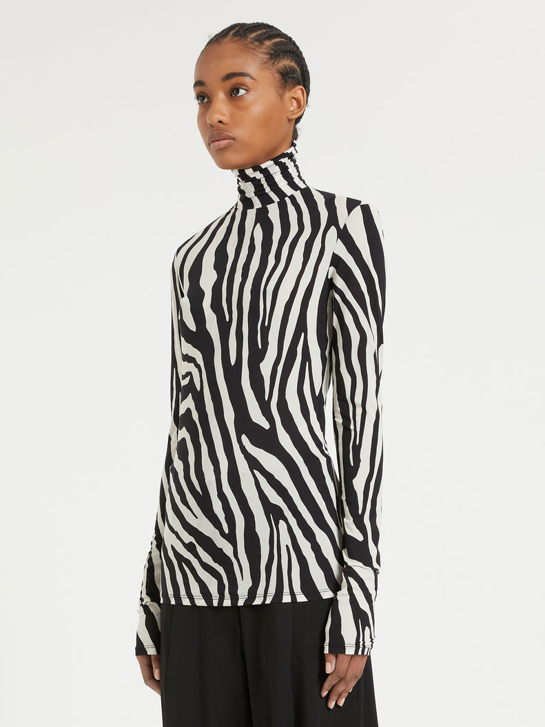Womens Max Mara Tops And T-Shirts | Skintight Jersey Polo-Neck Sweater White