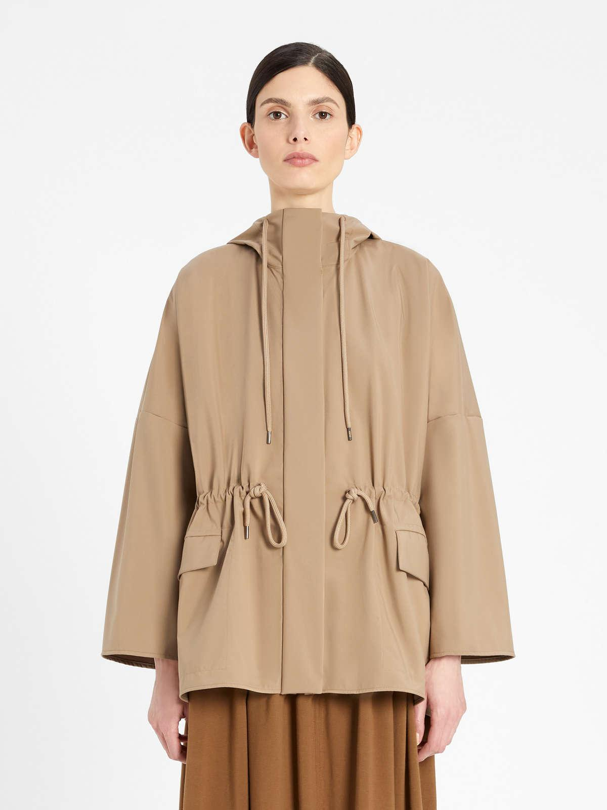 Womens Max Mara Trench | Parka In Water-Resistant Technical Fabric Turtledove