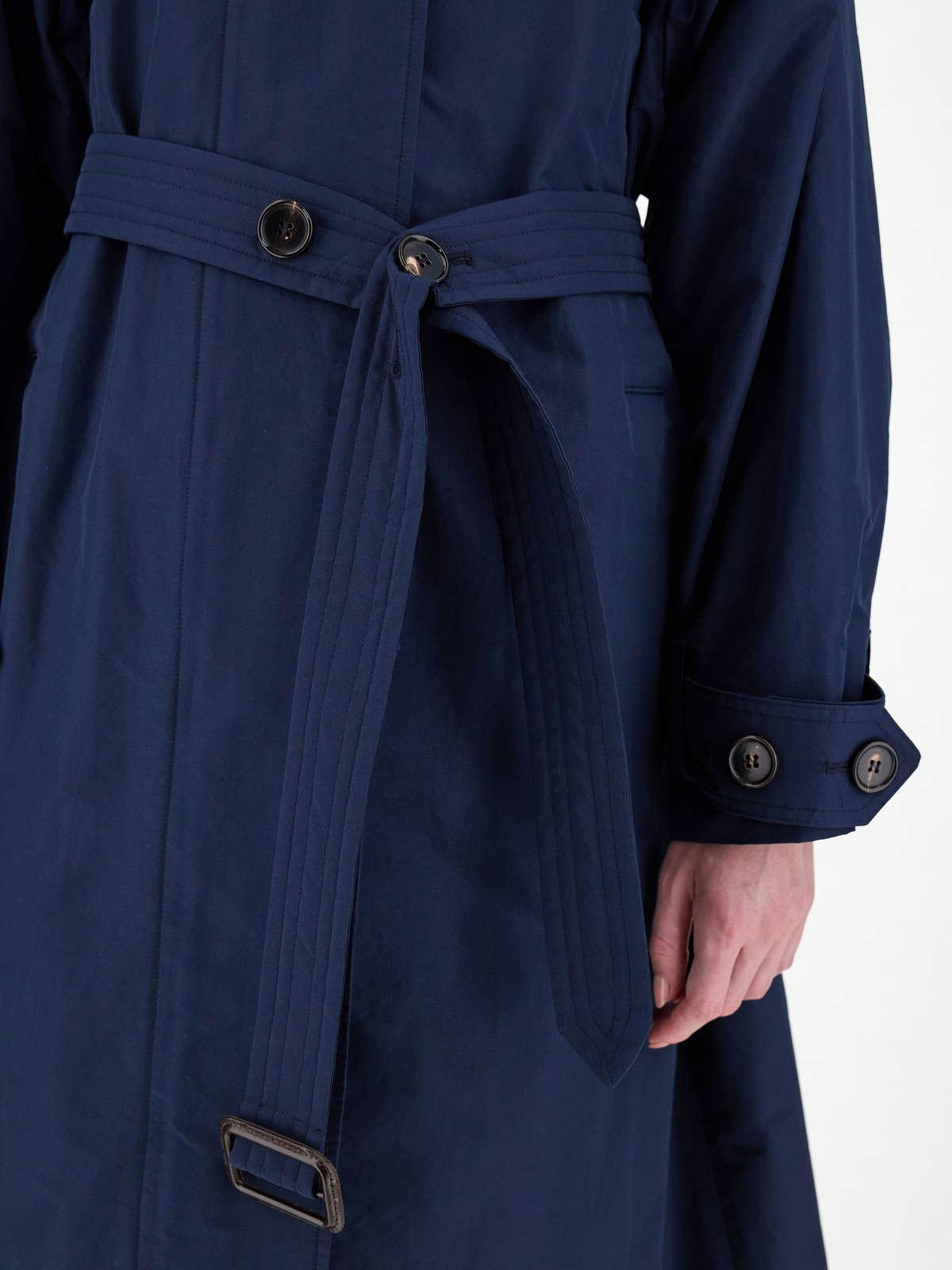 Womens Max Mara Trench   Water-Repellent Technical Cotton Parka Midnightblue