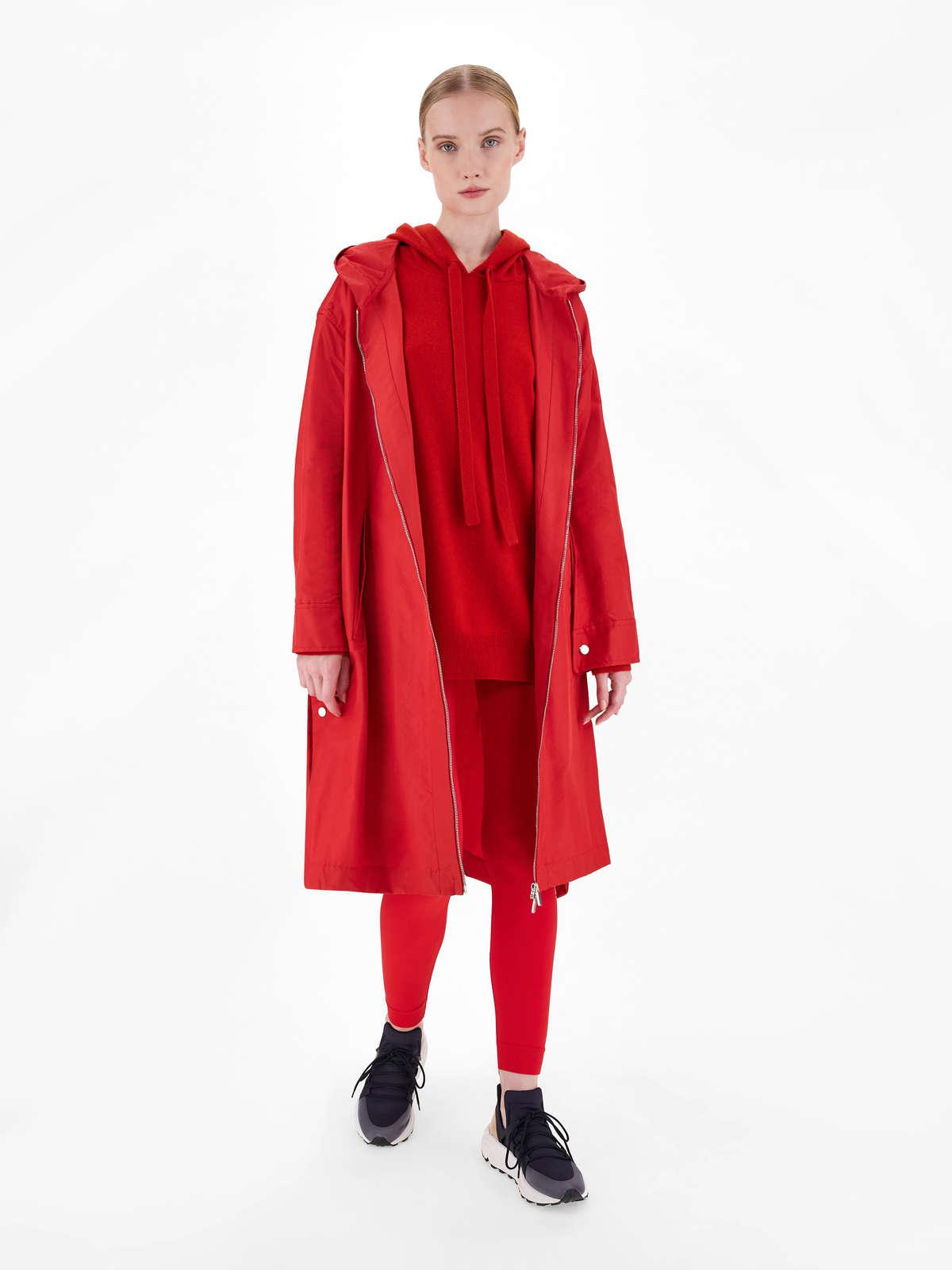 Womens Max Mara Trench | Water-Repellent Technical Cotton Parka Red