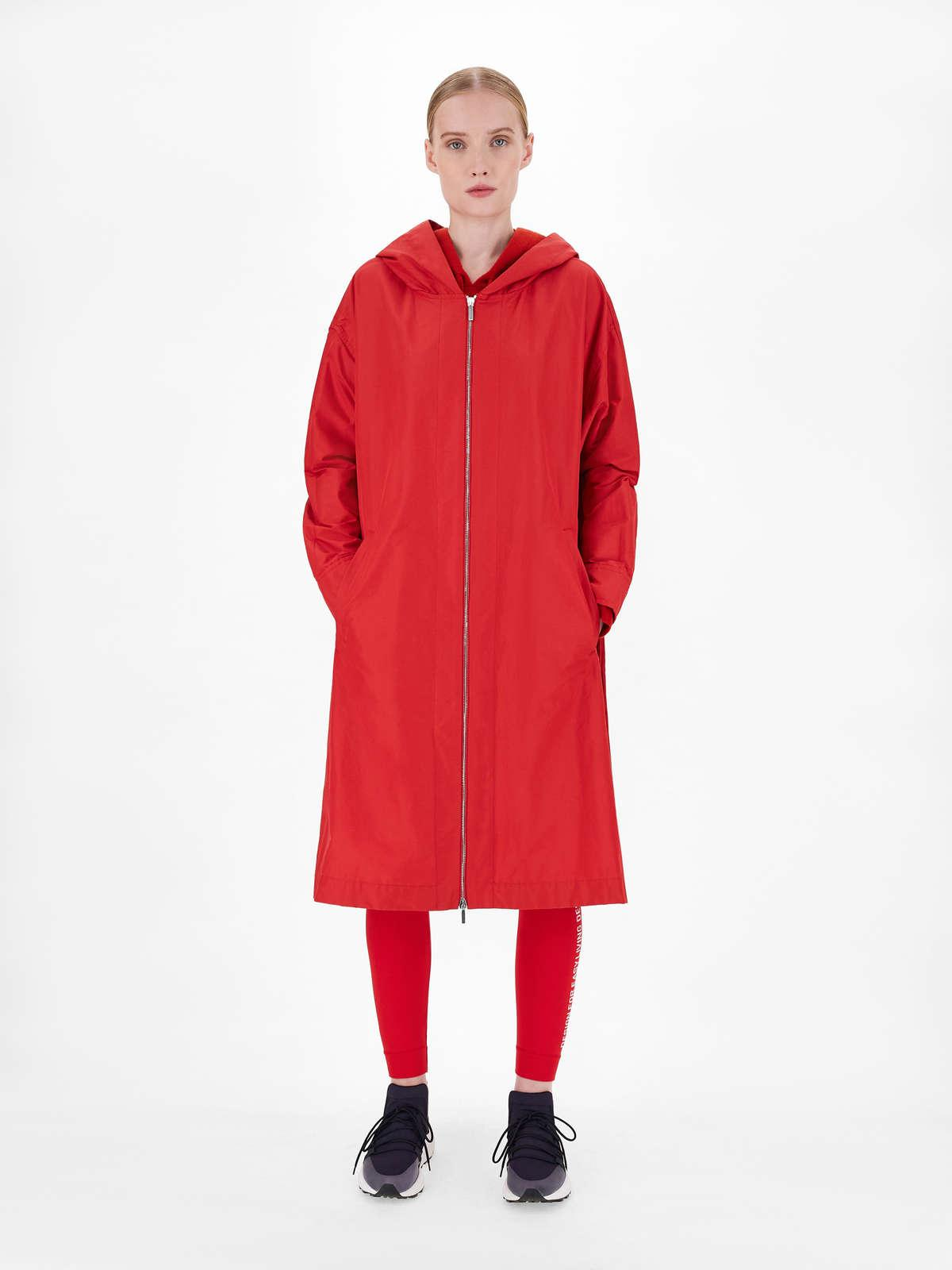 Womens Max Mara Trench   Water-Repellent Technical Cotton Parka Red