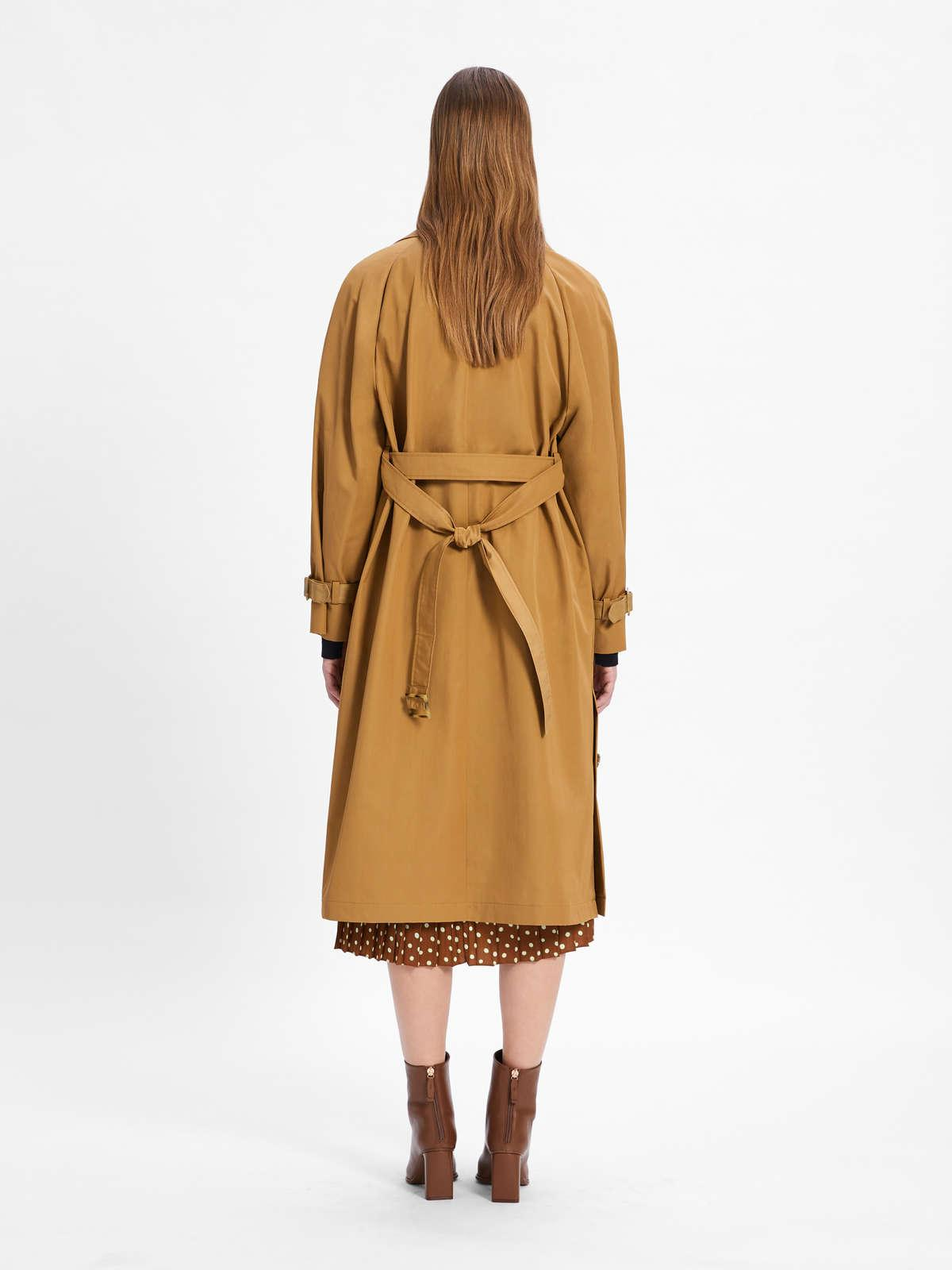 Womens Max Mara Trench | Water-Repellent Twill Trench Coat Camel