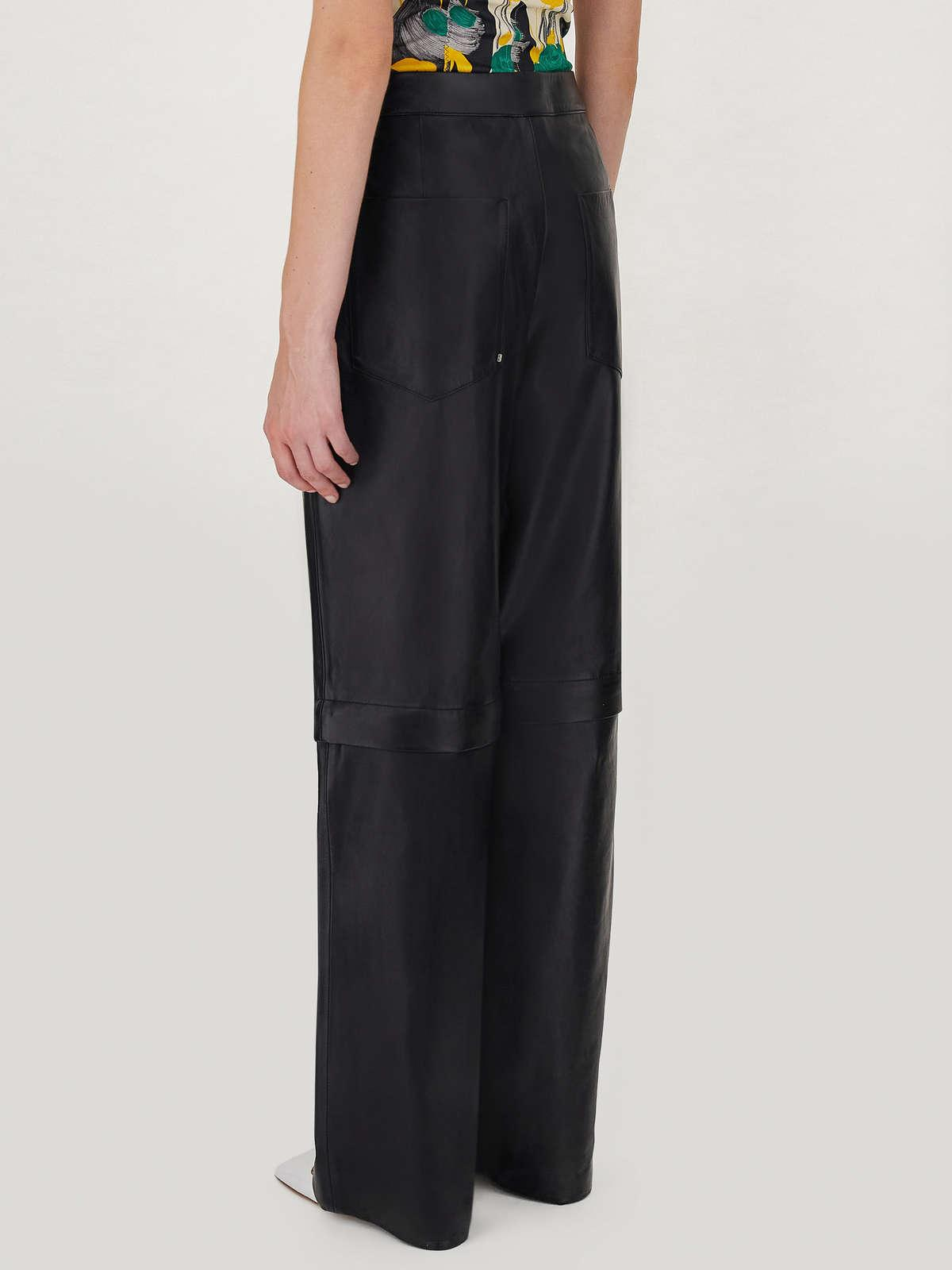 Womens Max Mara Trousers And Jeans | 2-In-1 Nappa Leather Trousers Black