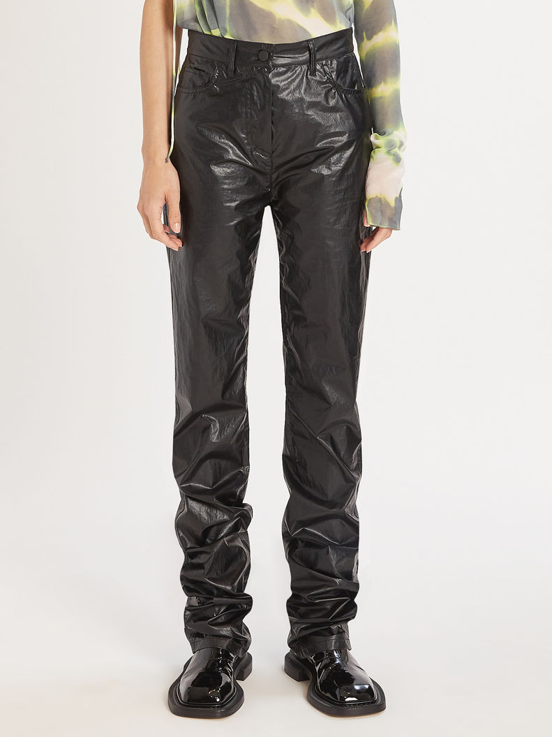 Womens Max Mara Trousers And Jeans | 5-Pocket Coated Fabric Trousers Black