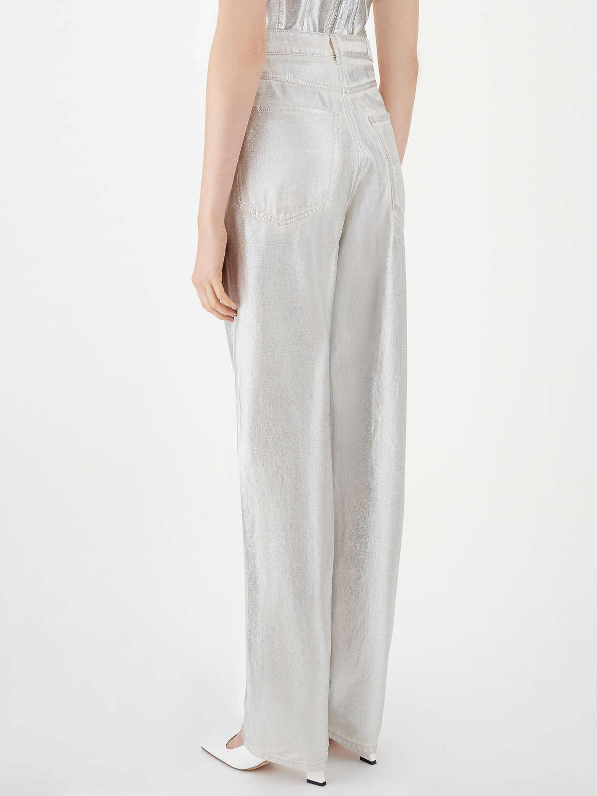 Womens Max Mara Trousers And Jeans | 5-Pocket Jeans Silver