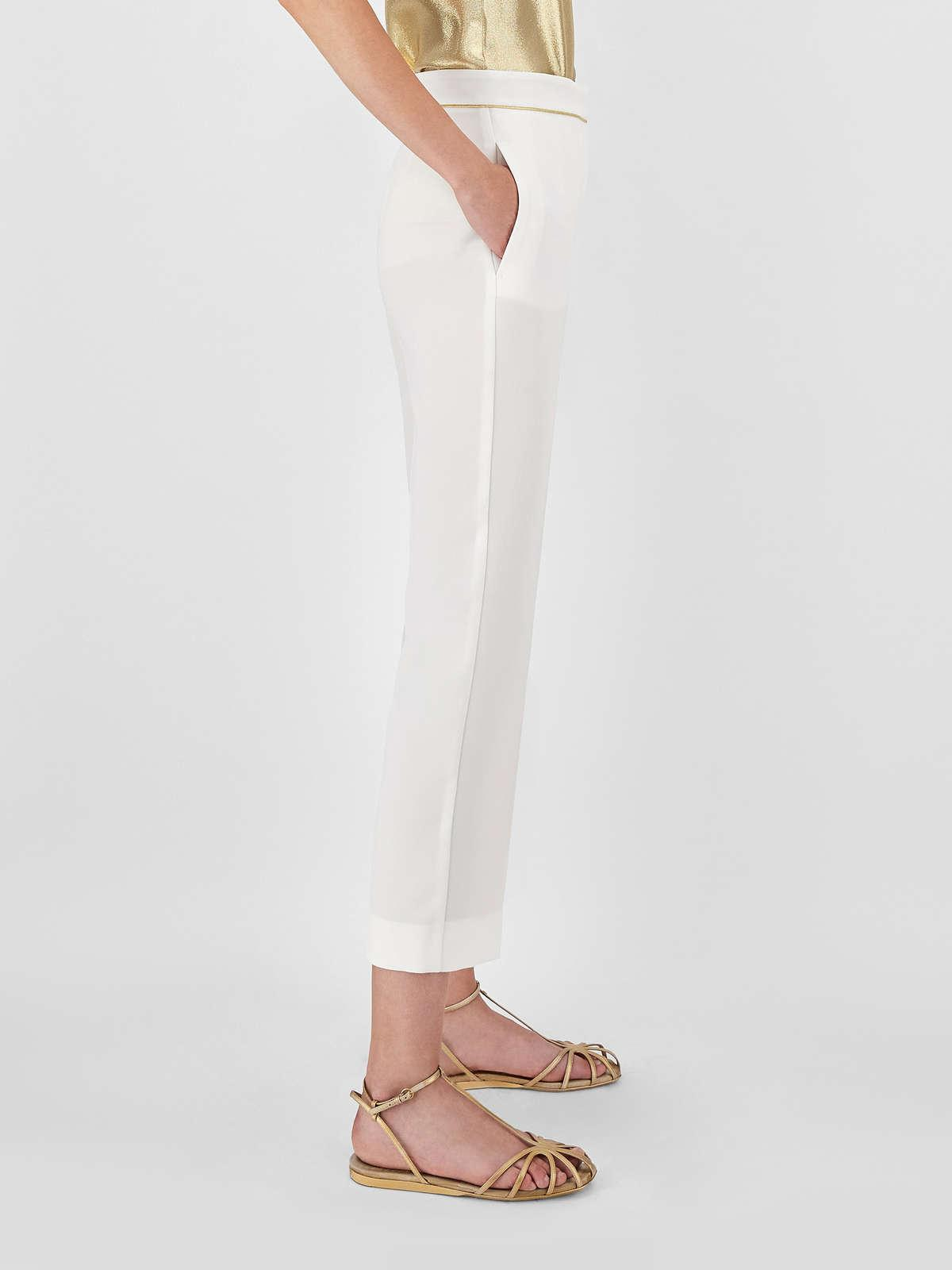 Womens Max Mara Trousers And Jeans   Cady Trousers Optical White