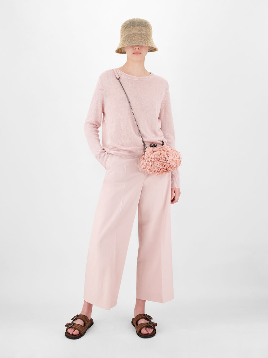 Womens Max Mara Trousers And Jeans | Cotton And Linen Trousers Pink