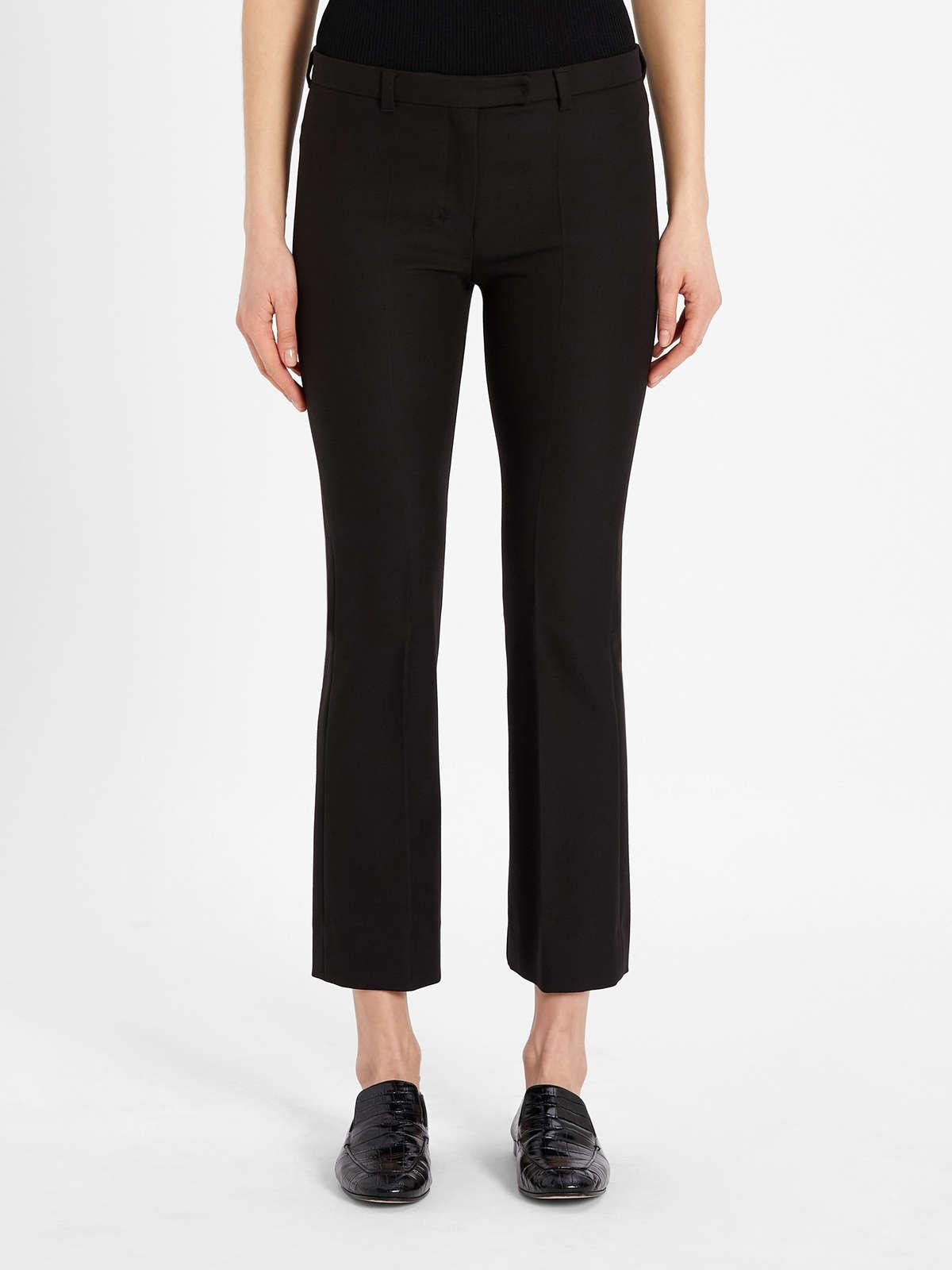 Womens Max Mara Trousers And Jeans   Cotton And Viscose Trousers Black