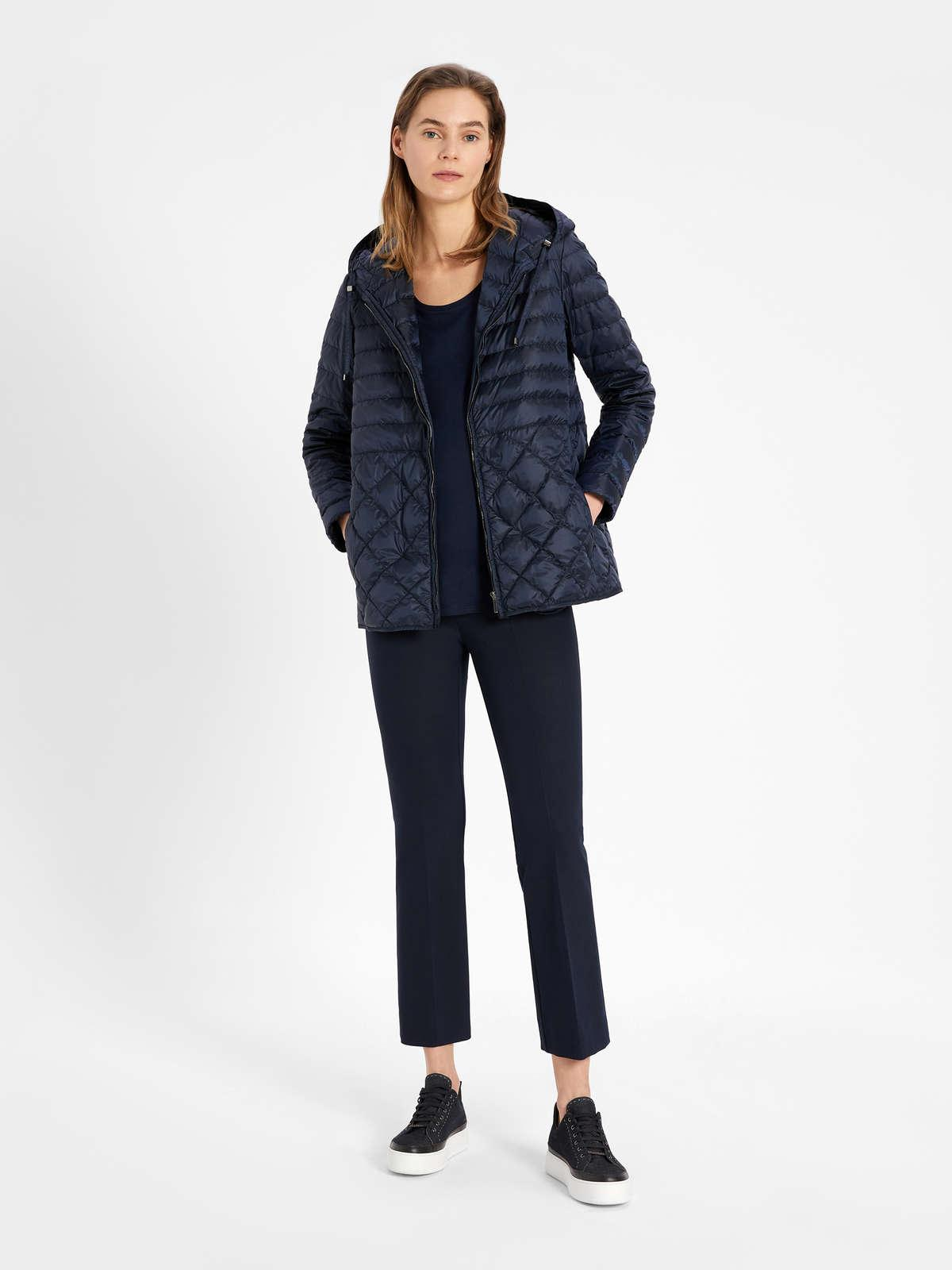 Womens Max Mara Trousers And Jeans | Cotton And Viscose Trousers Midnightblue