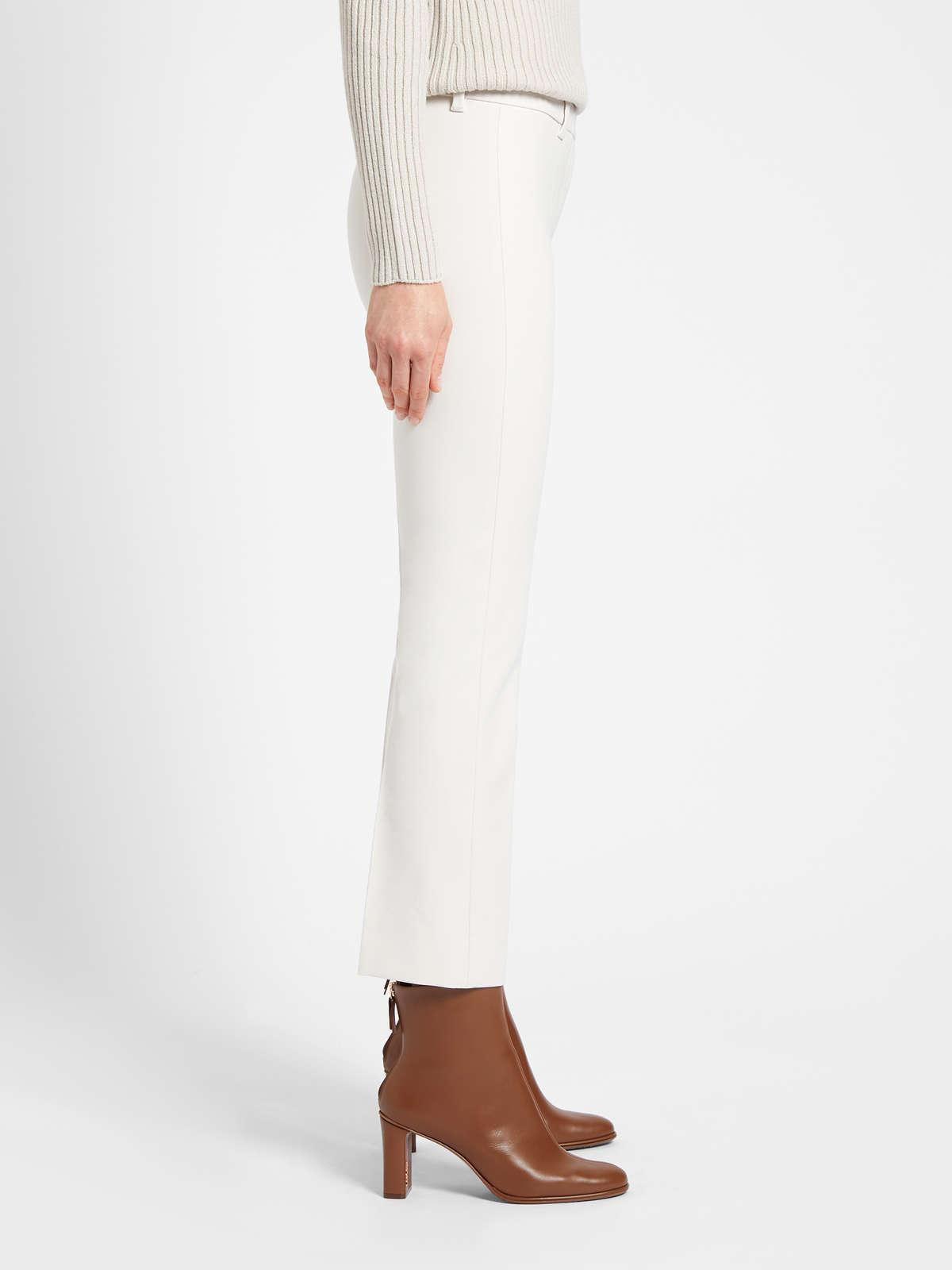 Womens Max Mara Trousers And Jeans   Cotton And Viscose Trousers White
