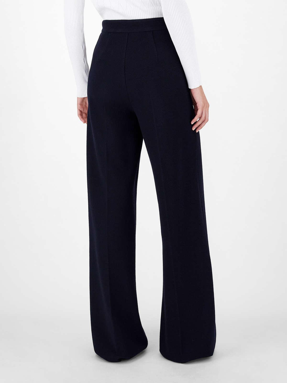 Womens Max Mara Trousers And Jeans | Cotton And Wool Jersey Trousers Ultramarine