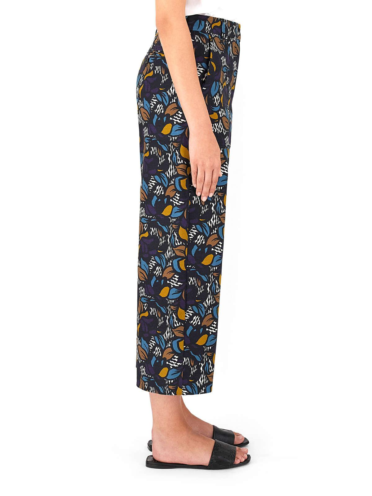 Womens Max Mara Trousers And Jeans | Cotton Basketweave Trousers Black