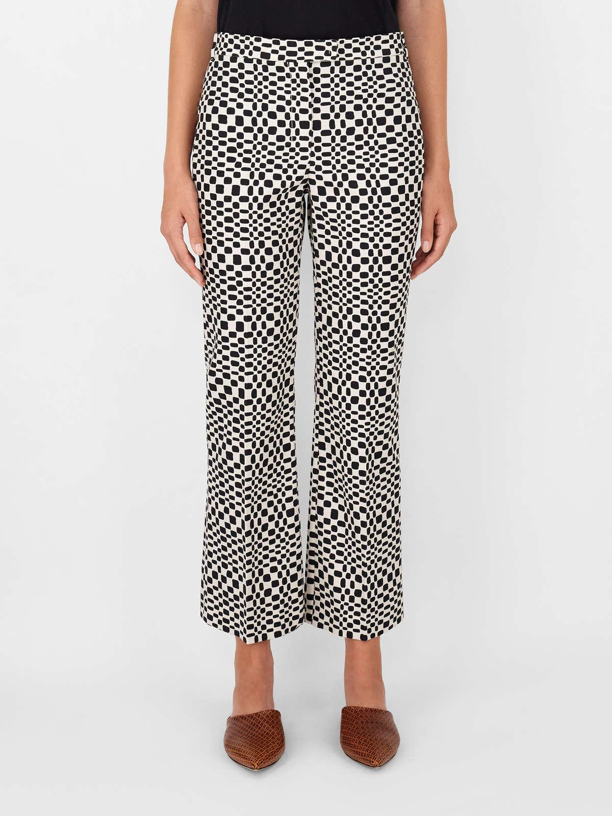Womens Max Mara Trousers And Jeans | Cotton Basketweave Trousers Ecru