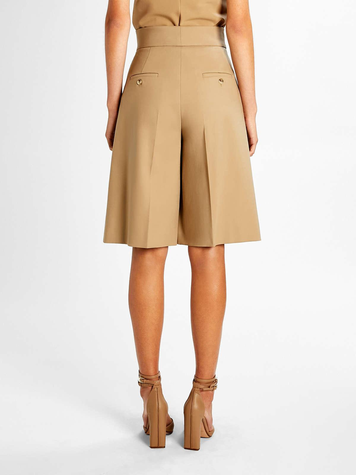 Womens Max Mara Trousers And Jeans   Cotton Bermuda Shorts Camel