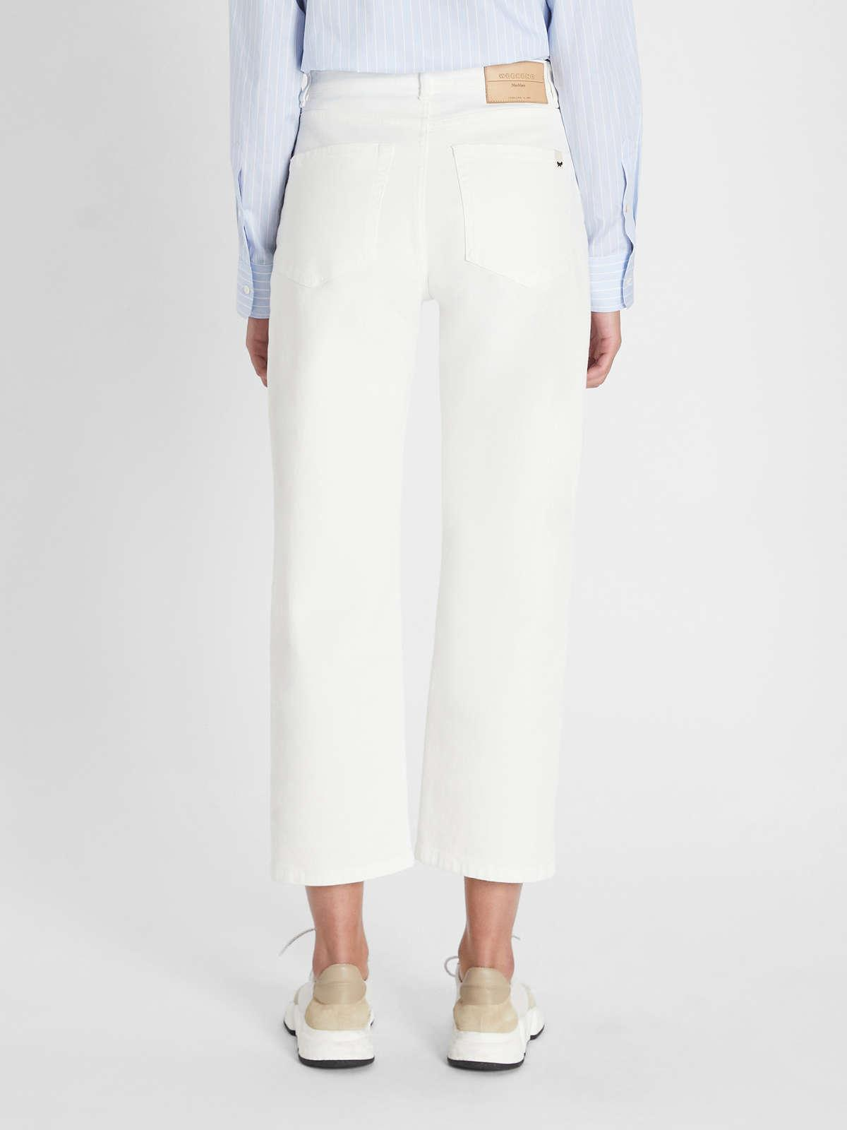 Womens Max Mara Trousers And Jeans | Cotton Bull Denim Trousers White