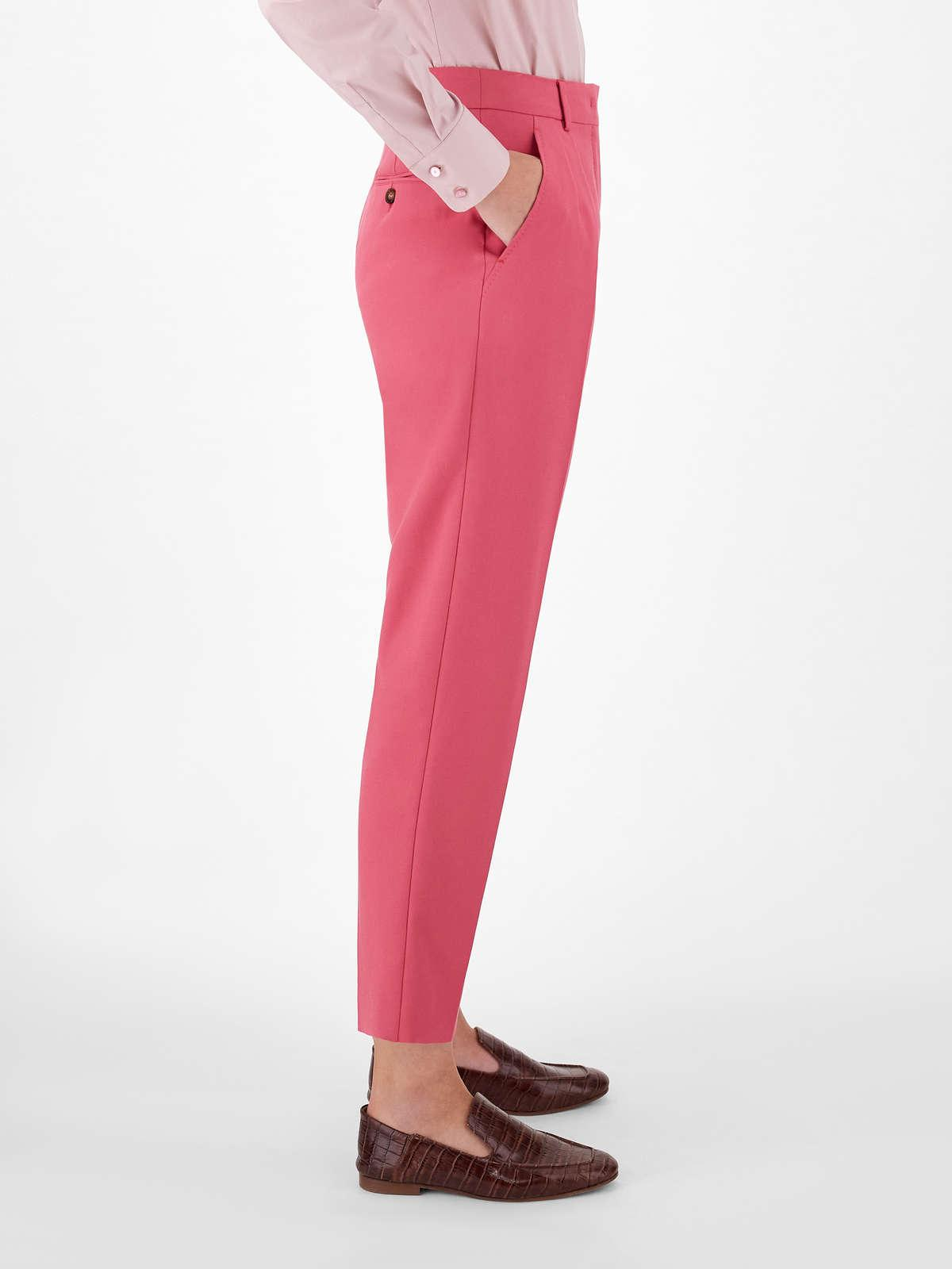 Womens Max Mara Trousers And Jeans | Cotton Crepe Trousers Fuchsia