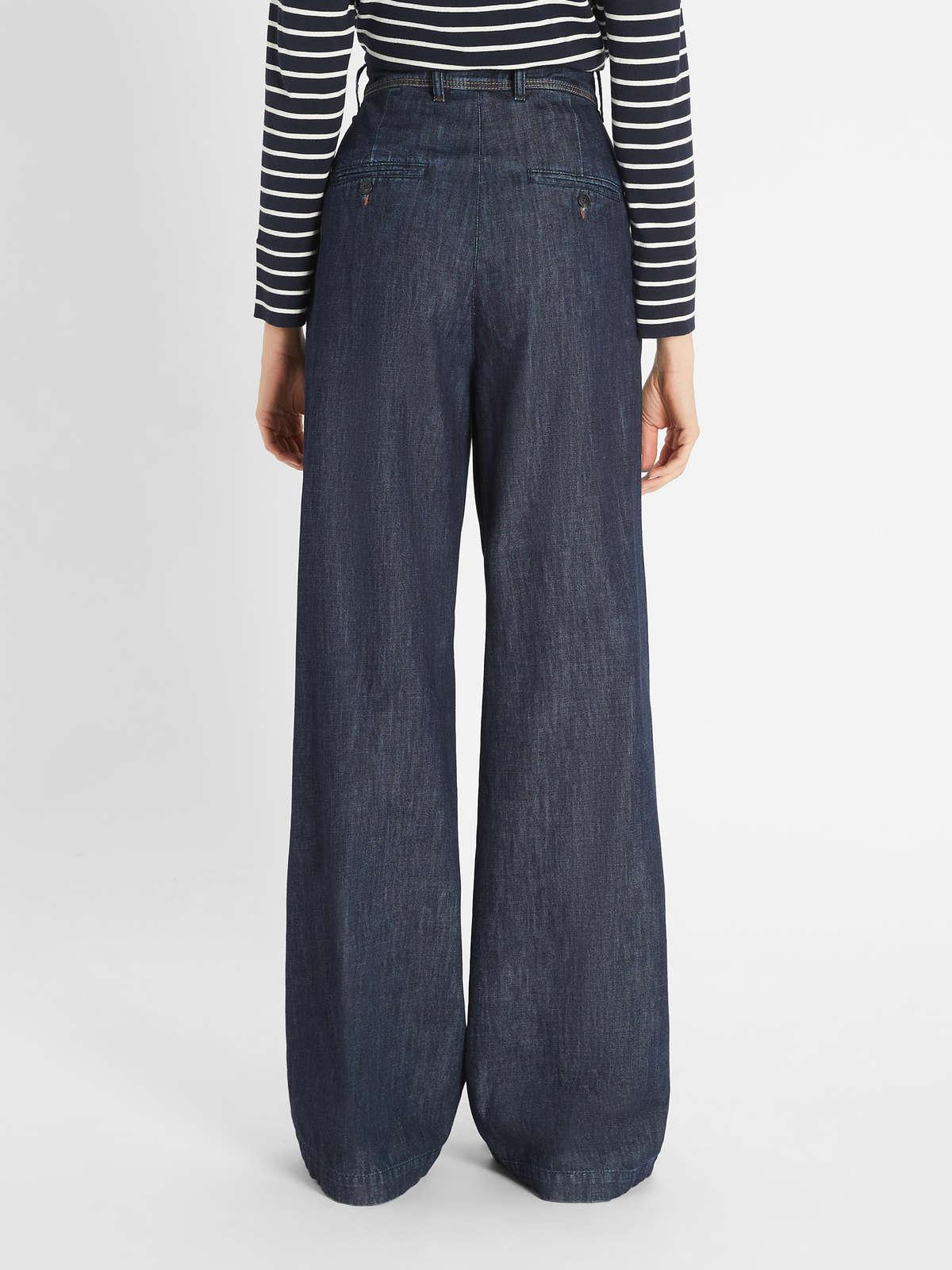 Womens Max Mara Trousers And Jeans   Cotton Denim Trousers Midnightblue