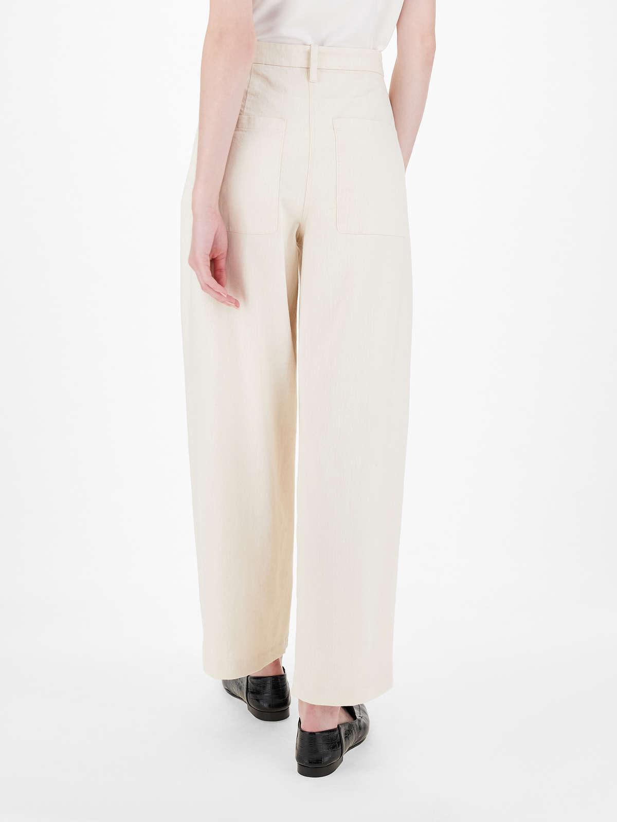 Womens Max Mara Trousers And Jeans   Cotton Drill Trousers Ecru