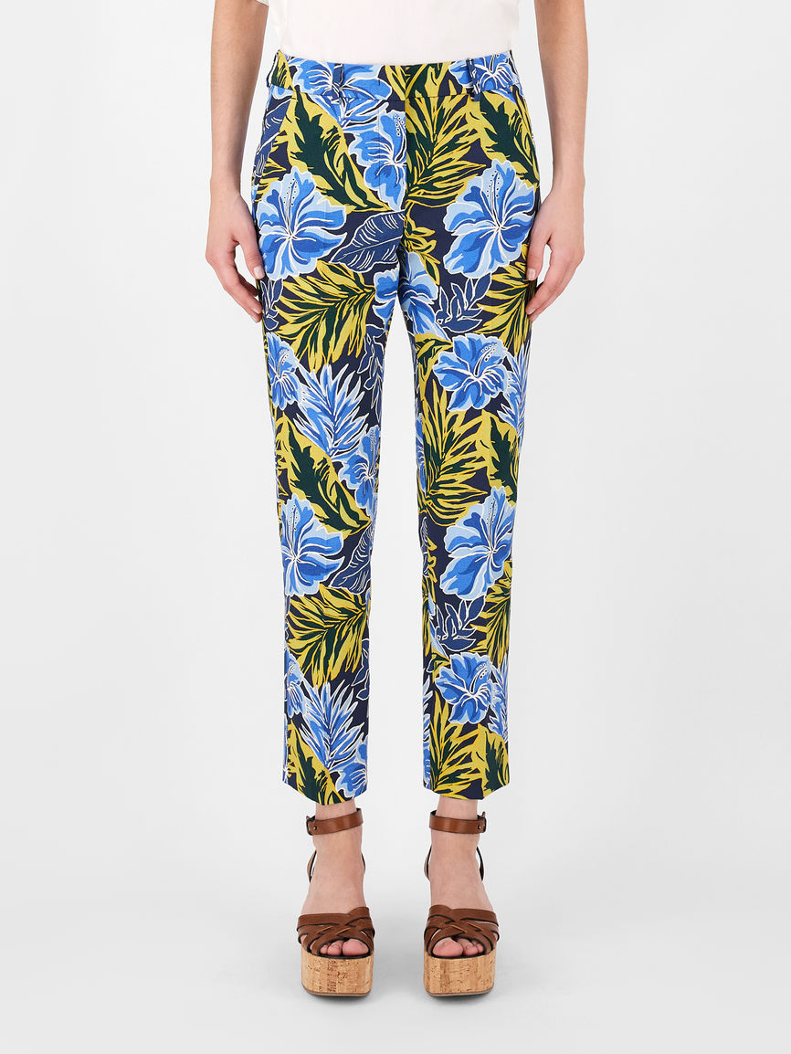 Womens Max Mara Trousers And Jeans   Cotton Faille Trousers Navy