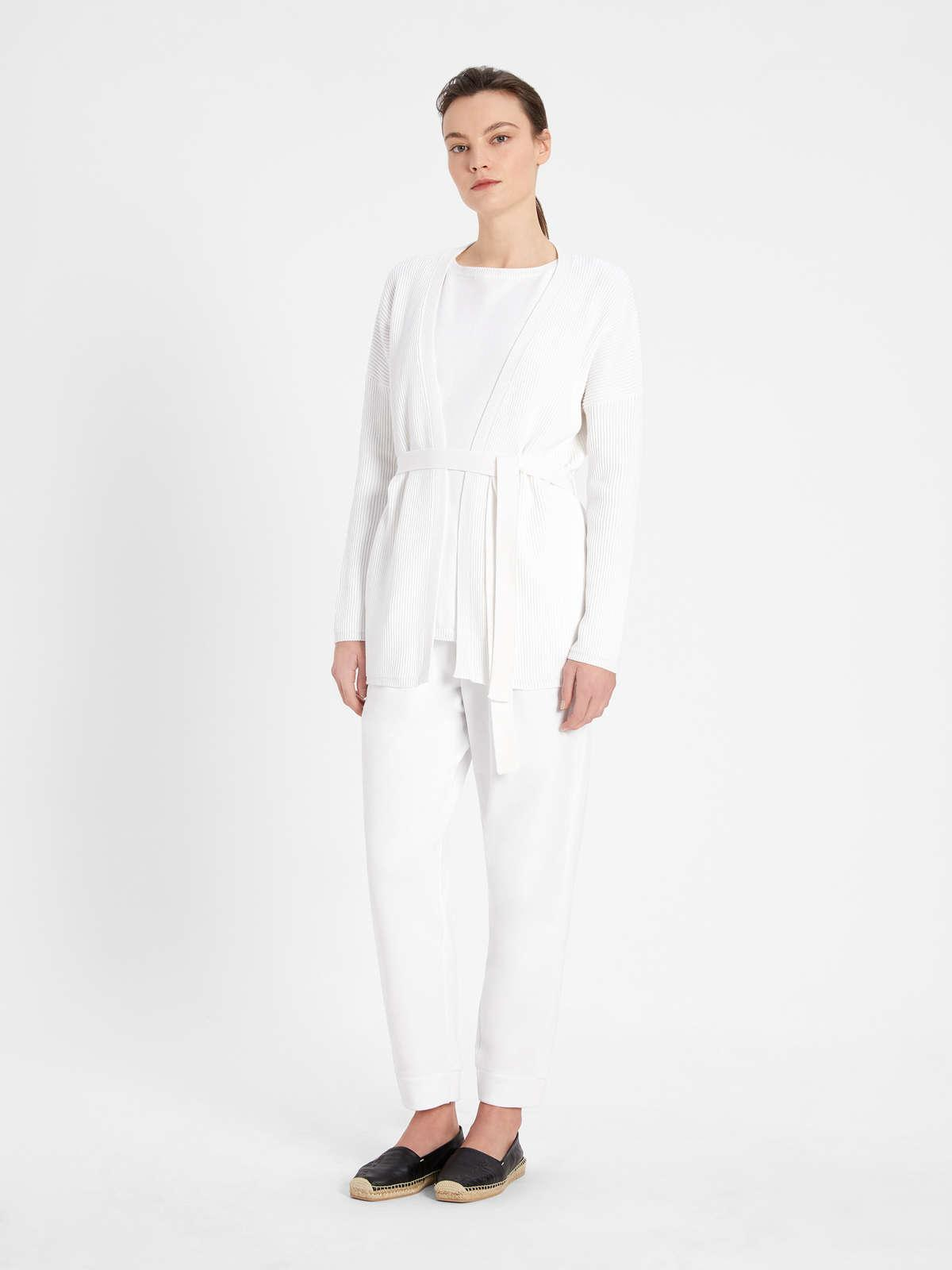 Womens Max Mara Trousers And Jeans | Cotton Fleece Trousers Optical White