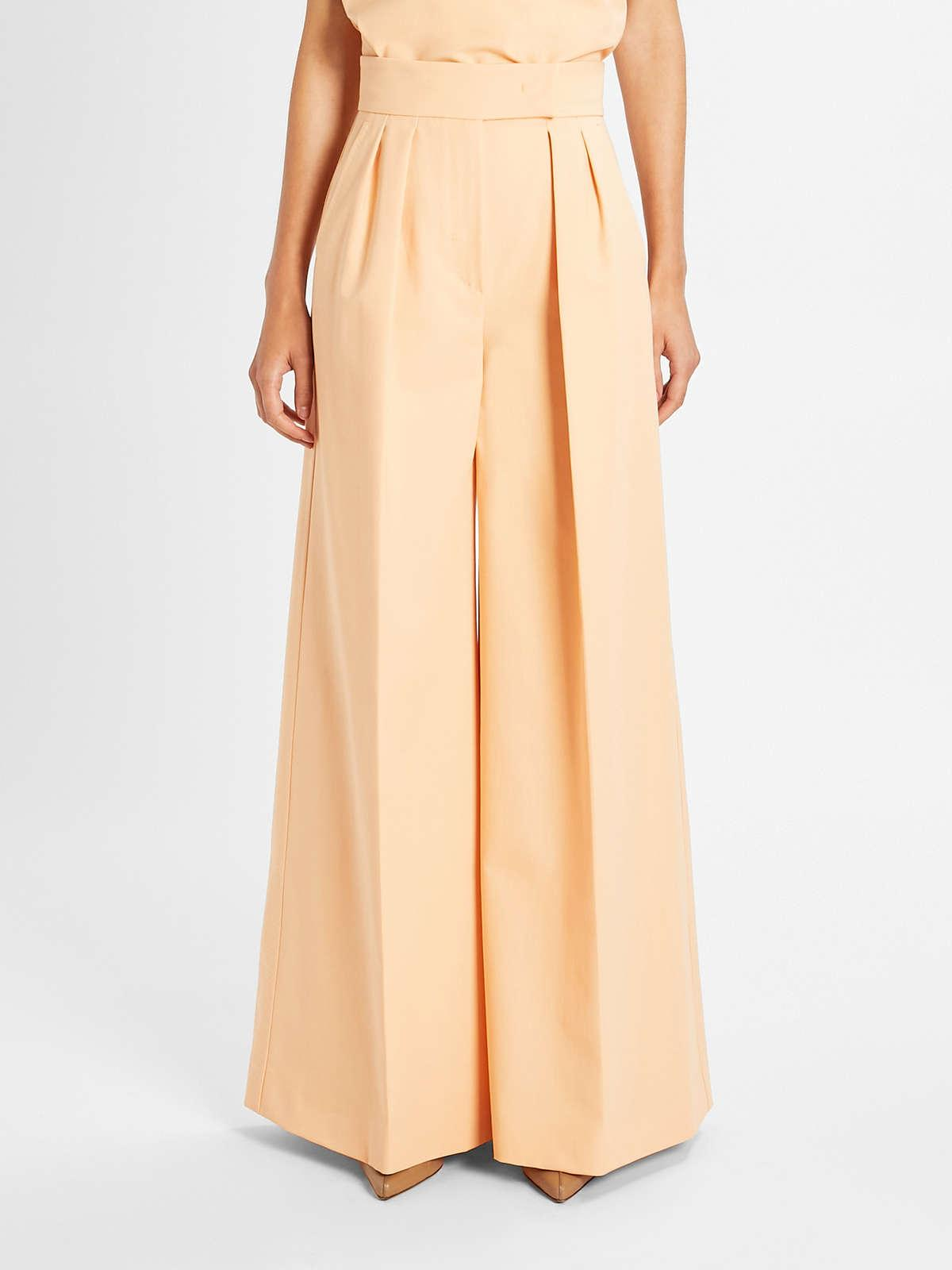 Womens Max Mara Trousers And Jeans | Cotton Gabardine Trousers Peach