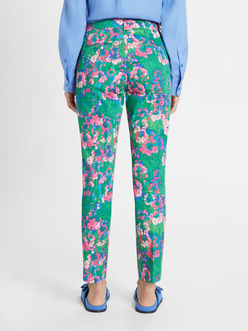 Womens Max Mara Trousers And Jeans   Cotton Gabardine Trousers Pink