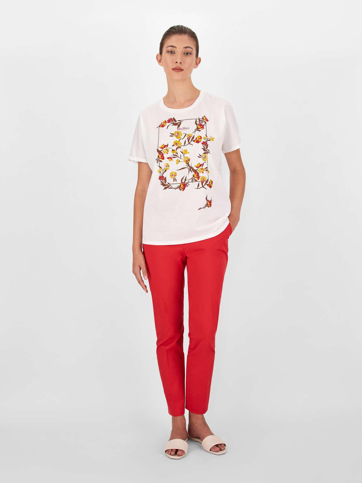 Womens Max Mara Trousers And Jeans | Cotton Gabardine Trousers Red