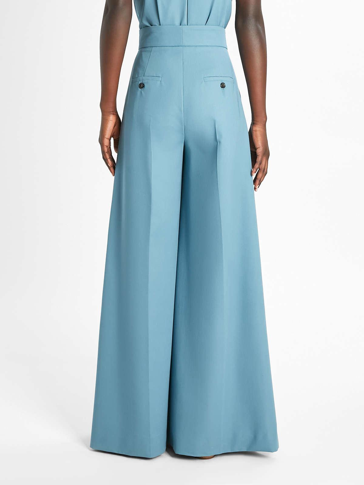 Womens Max Mara Trousers And Jeans | Cotton Gabardine Trousers Turquoise