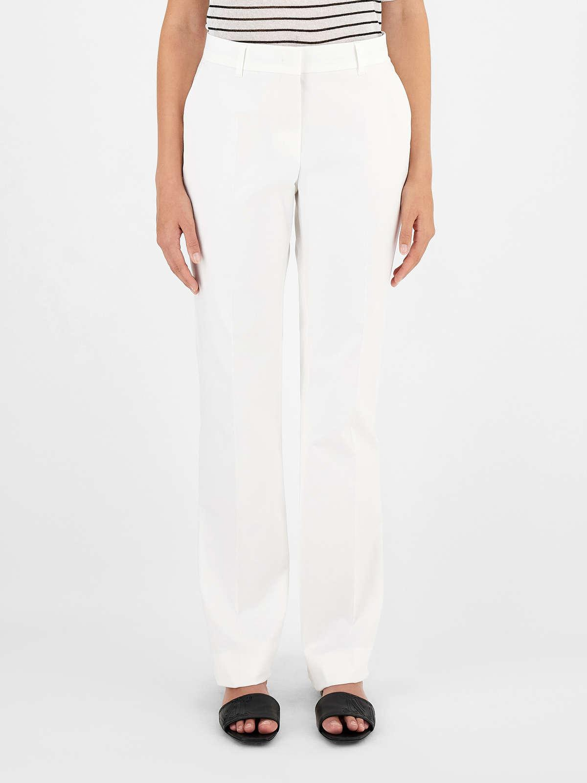 Womens Max Mara Trousers And Jeans | Cotton Gabardine Trousers White