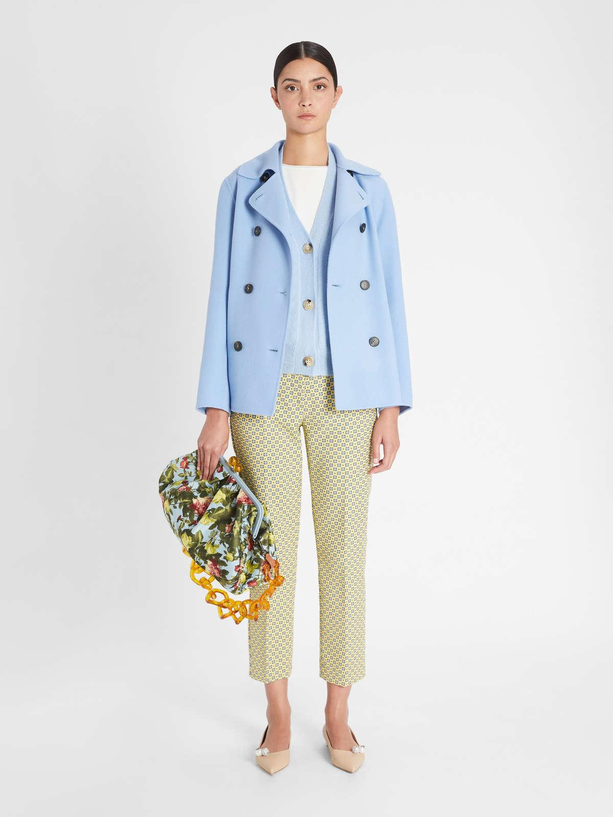 Womens Max Mara Trousers And Jeans | Cotton Jacquard Trousers Pale Yellow