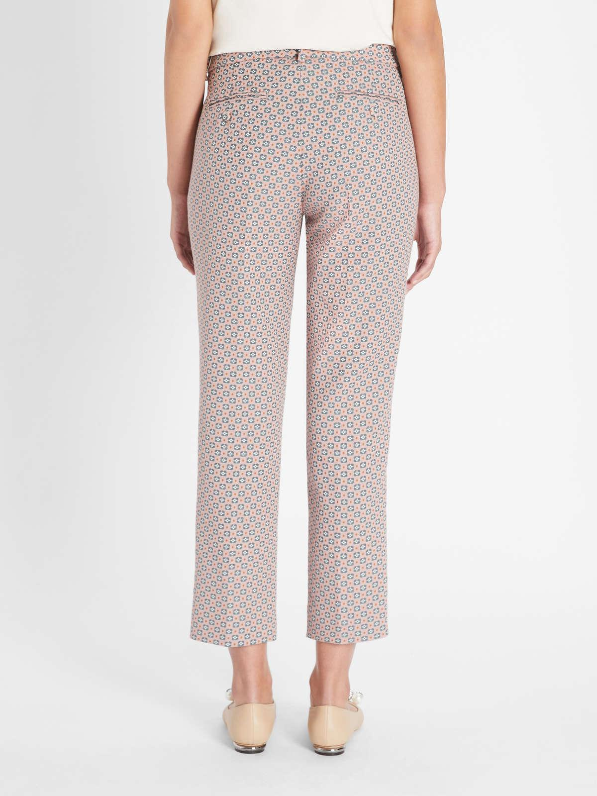 Womens Max Mara Trousers And Jeans | Cotton Jacquard Trousers Pink
