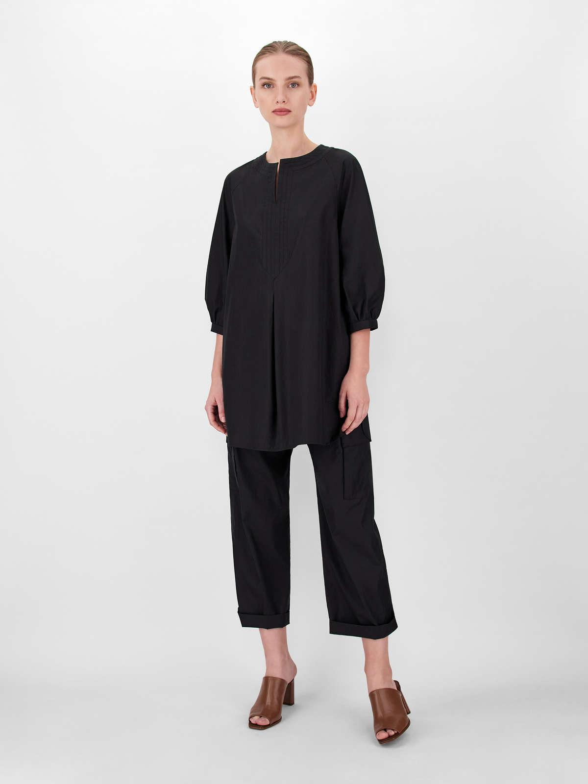 Womens Max Mara Trousers And Jeans   Cotton Poplin Trousers Black