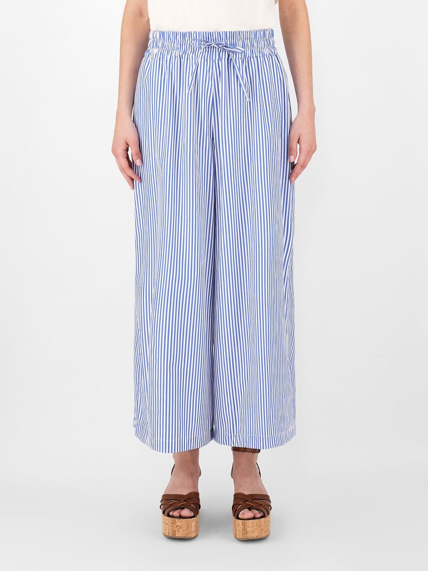 Womens Max Mara Trousers And Jeans   Cotton Poplin Trousers Light Blue