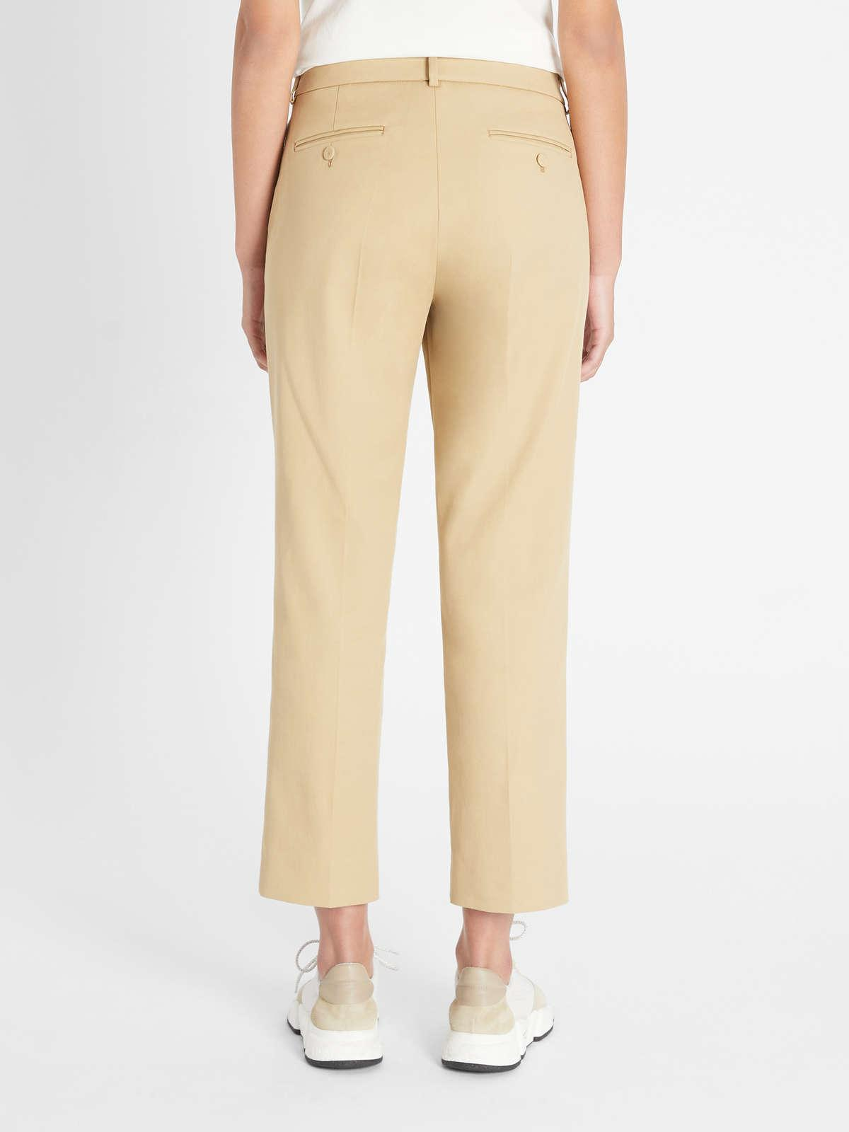 Womens Max Mara Trousers And Jeans | Cotton Trousers Camel
