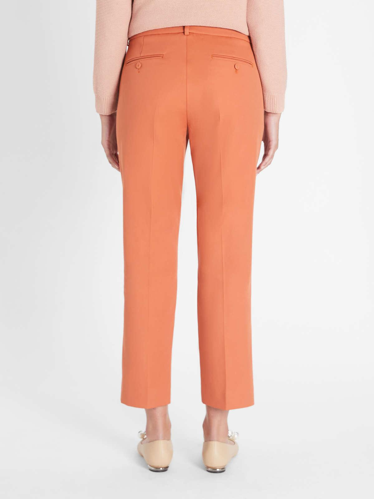 Womens Max Mara Trousers And Jeans | Cotton Trousers Coral