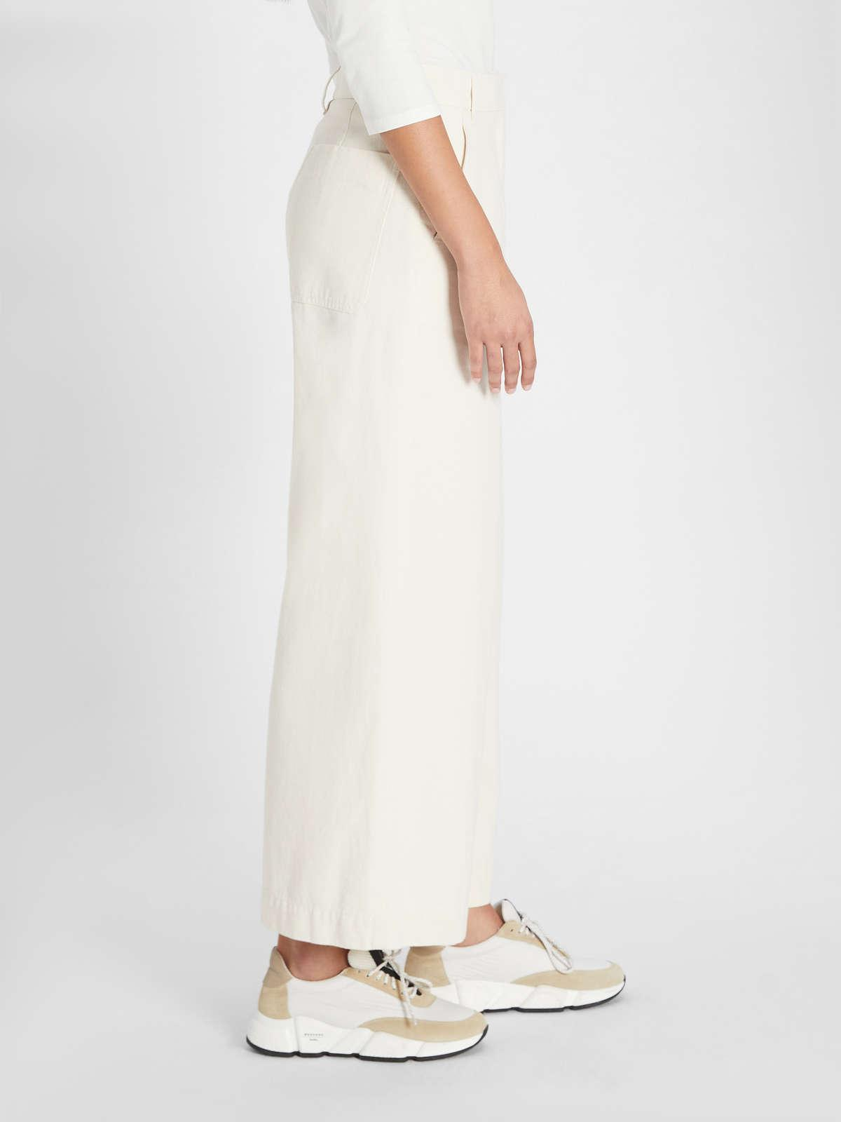 Womens Max Mara Trousers And Jeans | Cotton Trousers Ecru