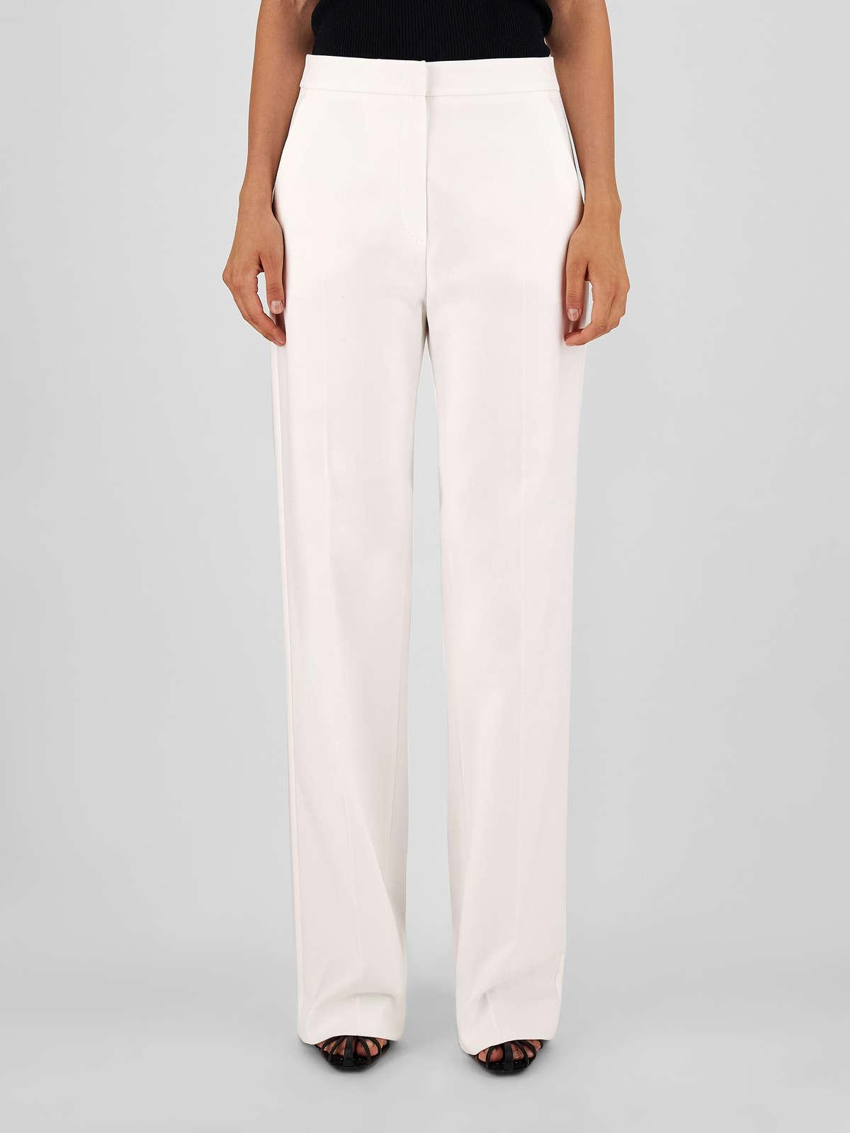 Womens Max Mara Trousers And Jeans   Cotton Trousers Optical White