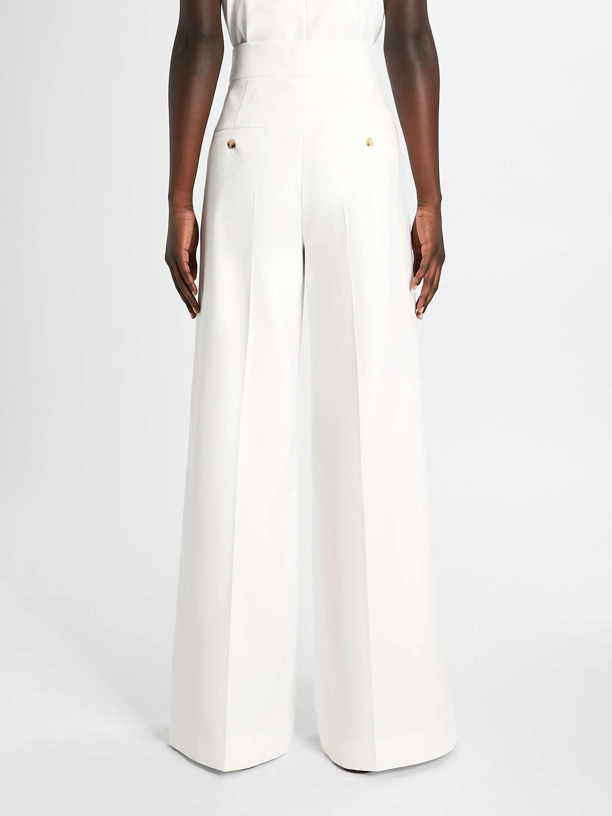 Womens Max Mara Trousers And Jeans | Cotton Trousers Optical White