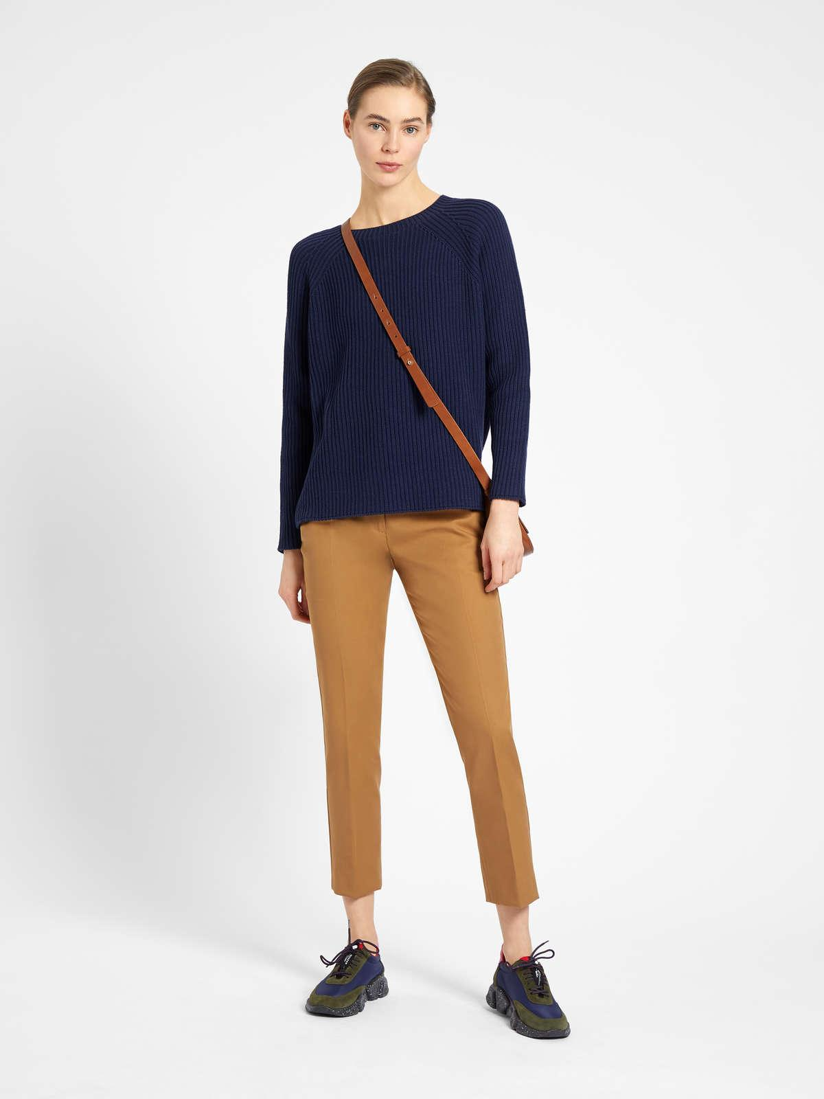 Womens Max Mara Trousers And Jeans | Cotton Trousers Tobacco