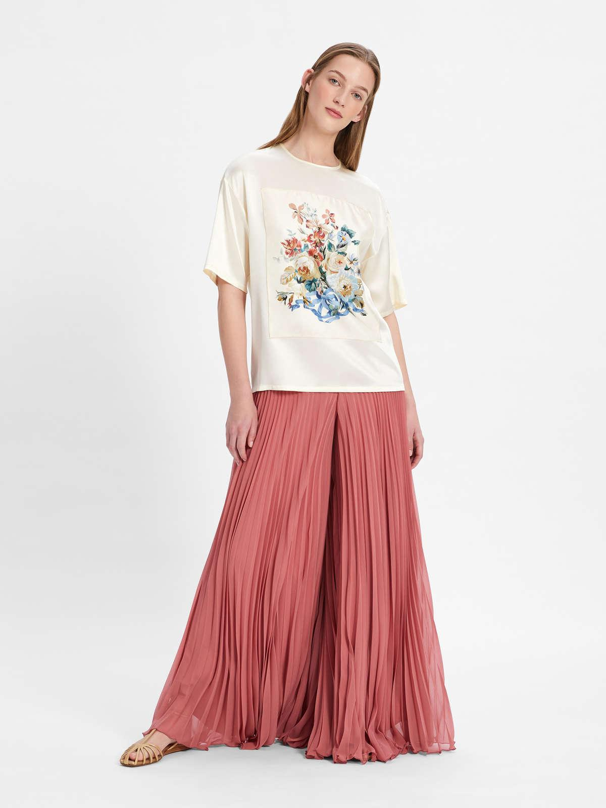 Womens Max Mara Trousers And Jeans | Georgette Sablé Culottes Pink